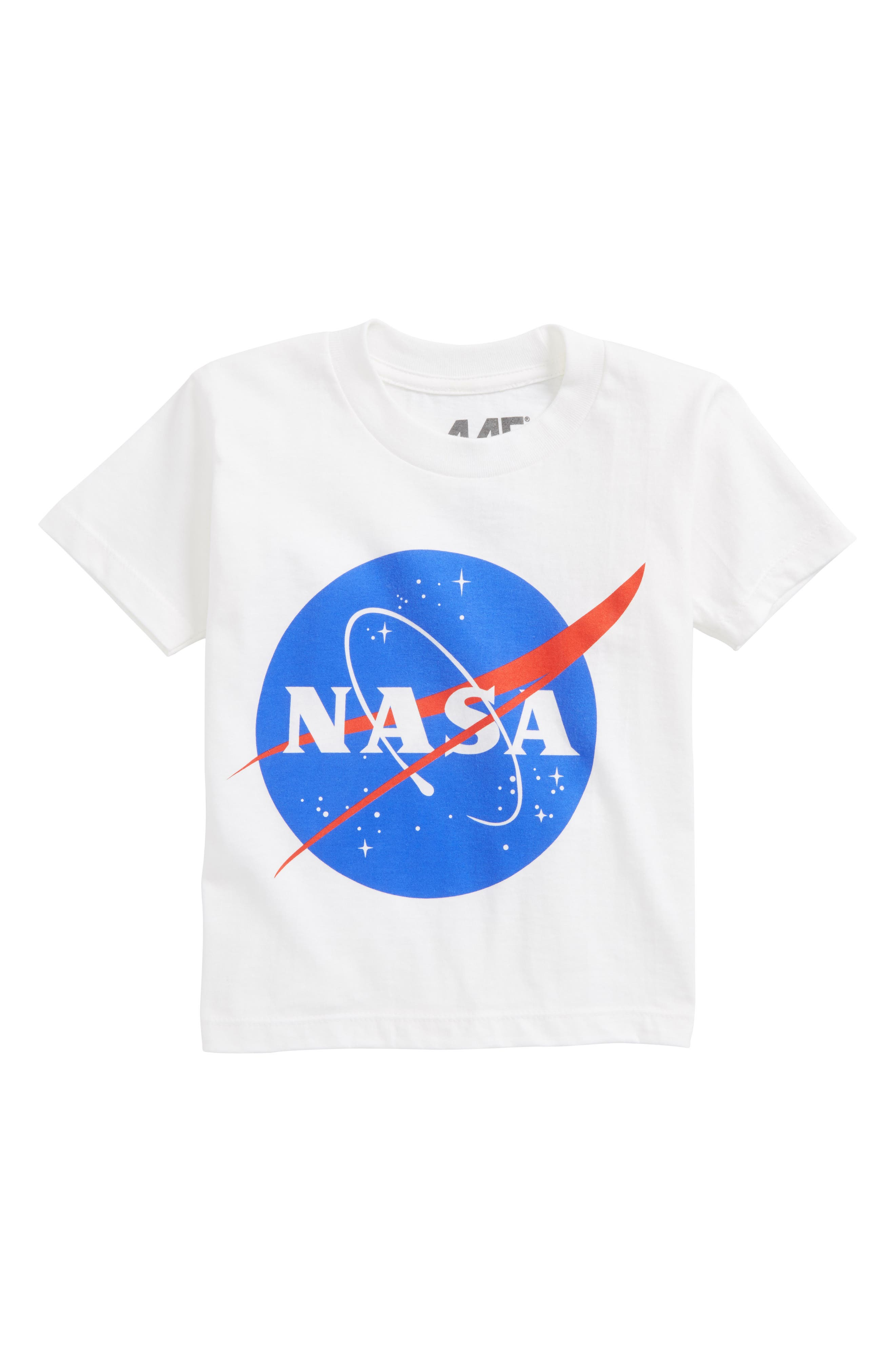 NASA T-Shirt,                             Main thumbnail 1, color,                             White