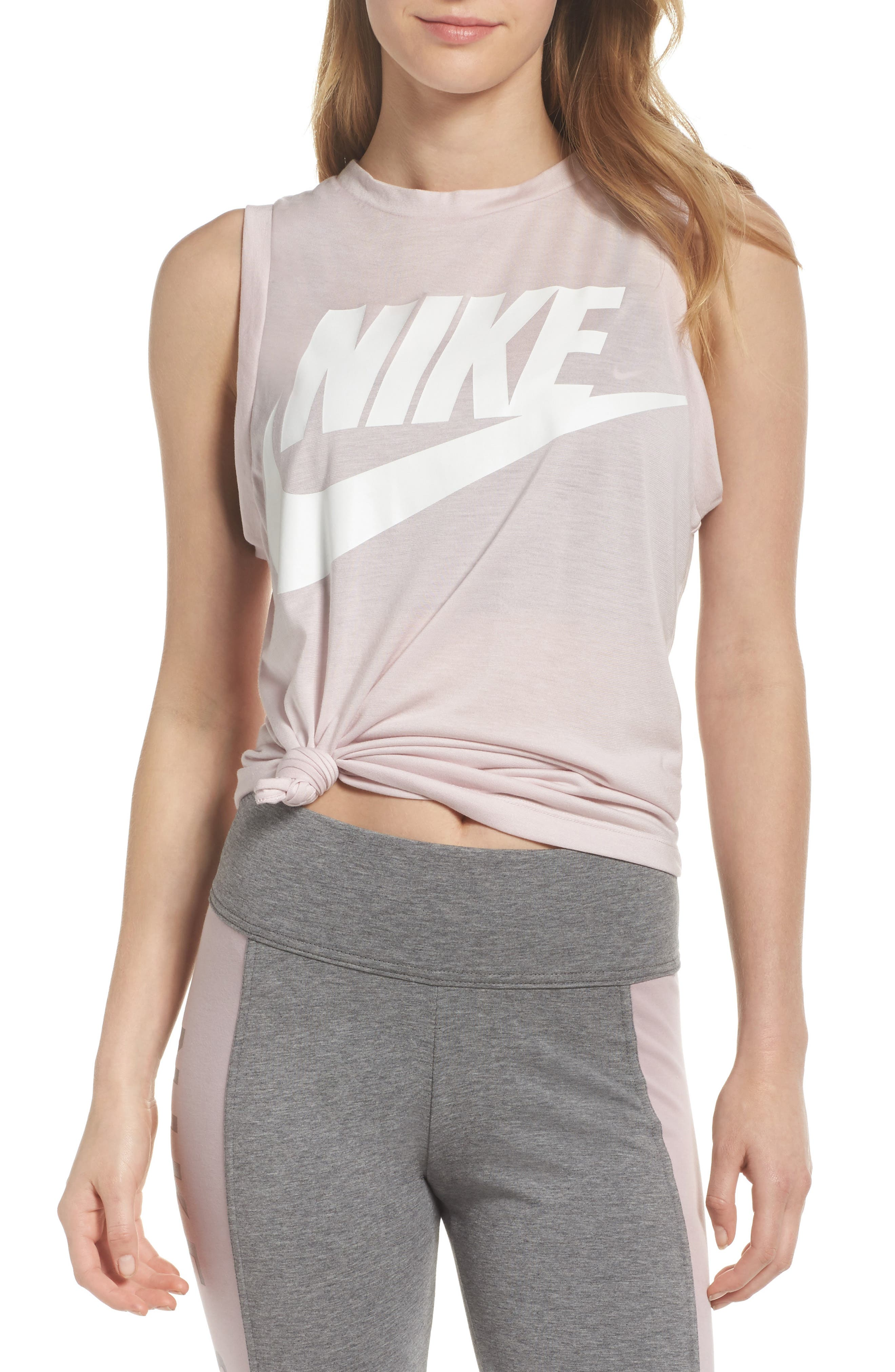 Sportswear Essential Women's Tank,                             Main thumbnail 1, color,                             Barely Rose/ Barely Rose