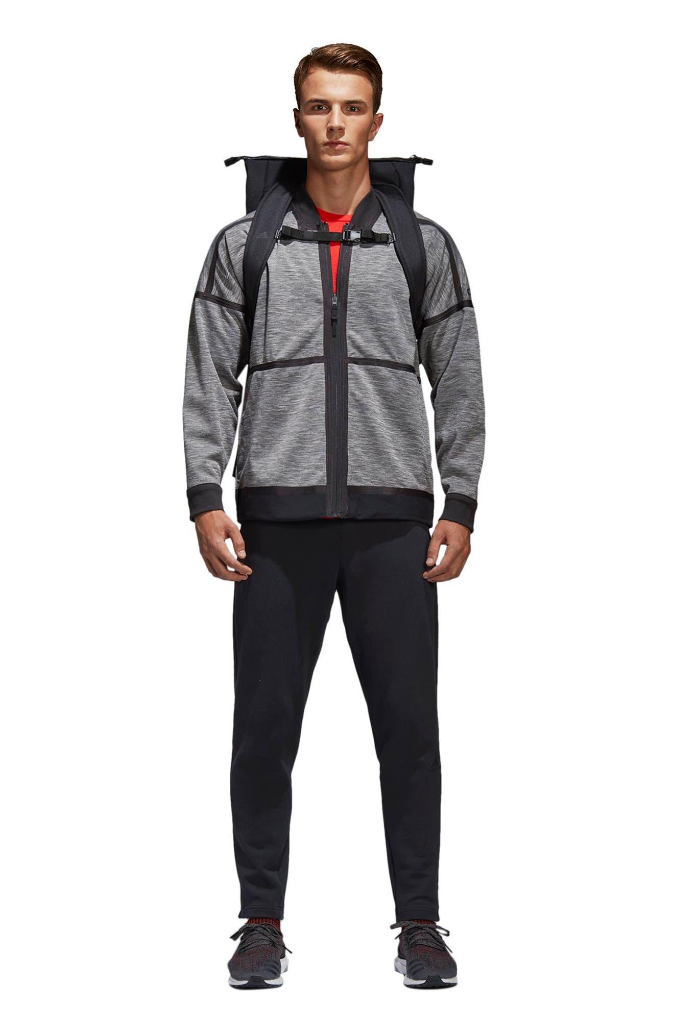 Z.N.E. Reversible Ventilated Jacket,                             Alternate thumbnail 2, color,                             Black / Storm Heather/ Mgh