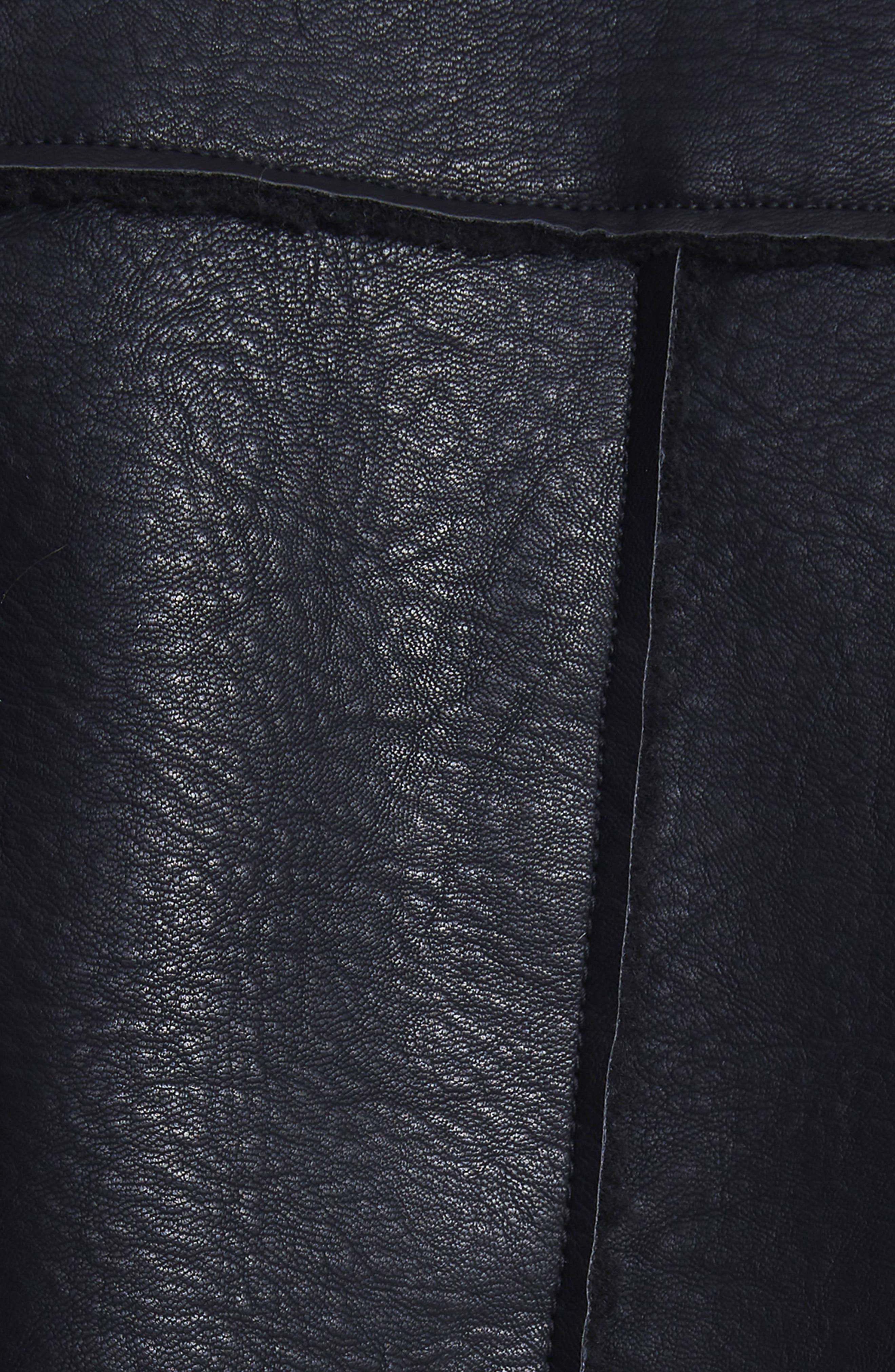 Opelia Oversize Faux Shearling Jacket,                             Alternate thumbnail 5, color,                             Noir
