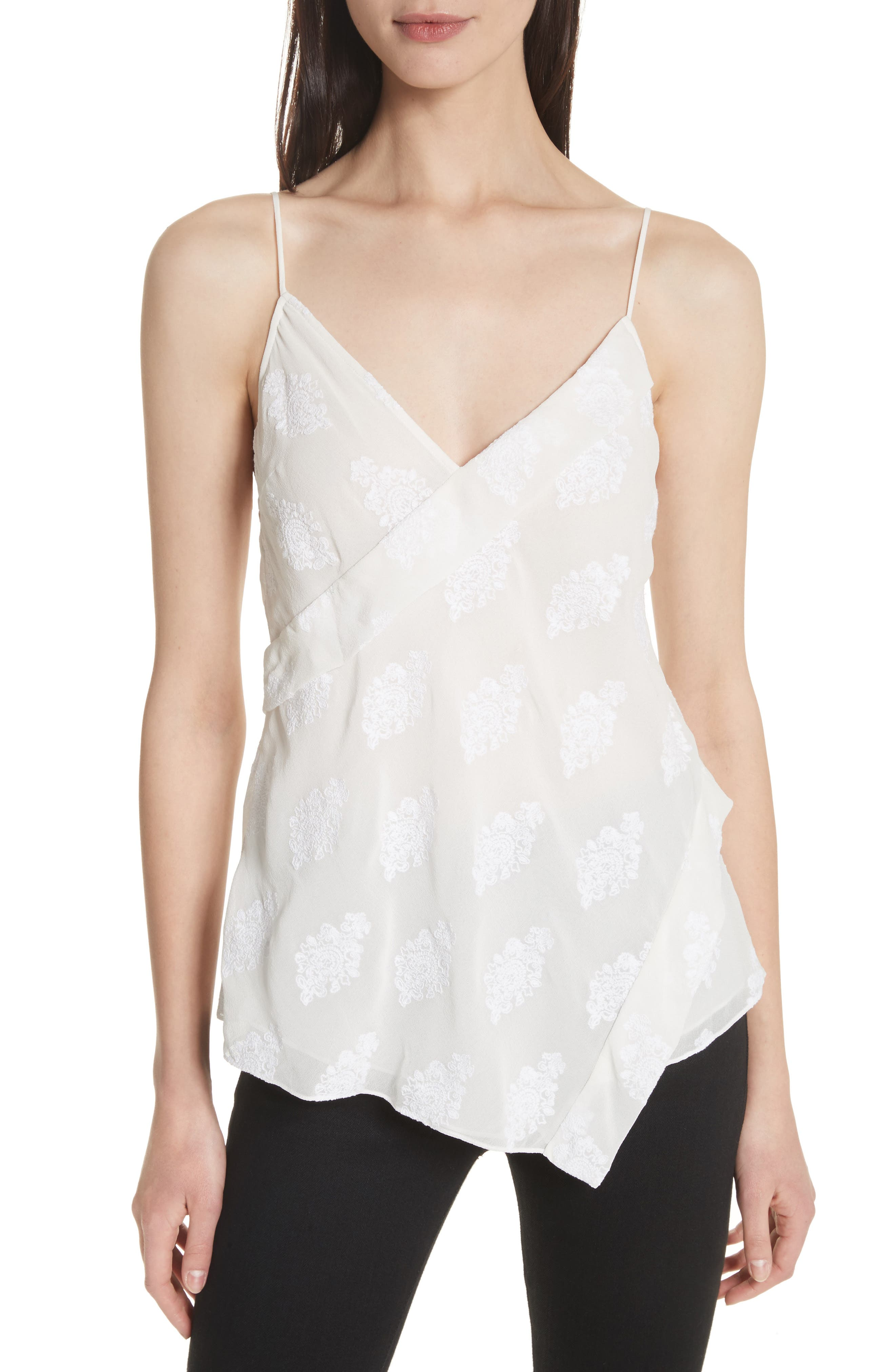 C2.Co Crossover Camisole,                             Main thumbnail 1, color,                             White/ White