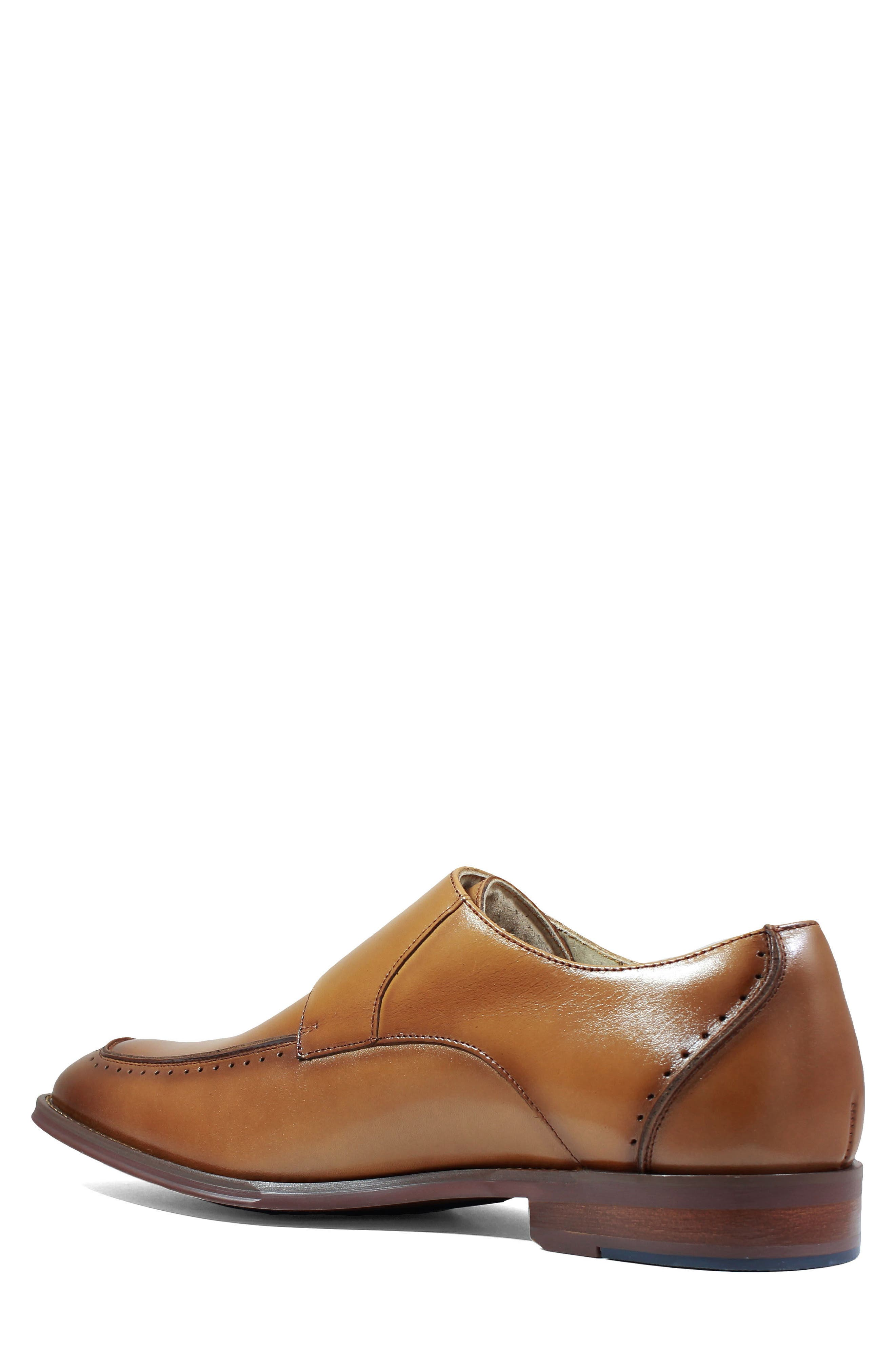 Baldwin Double Monk Strap Slip-On,                             Alternate thumbnail 2, color,                             Tan Leather