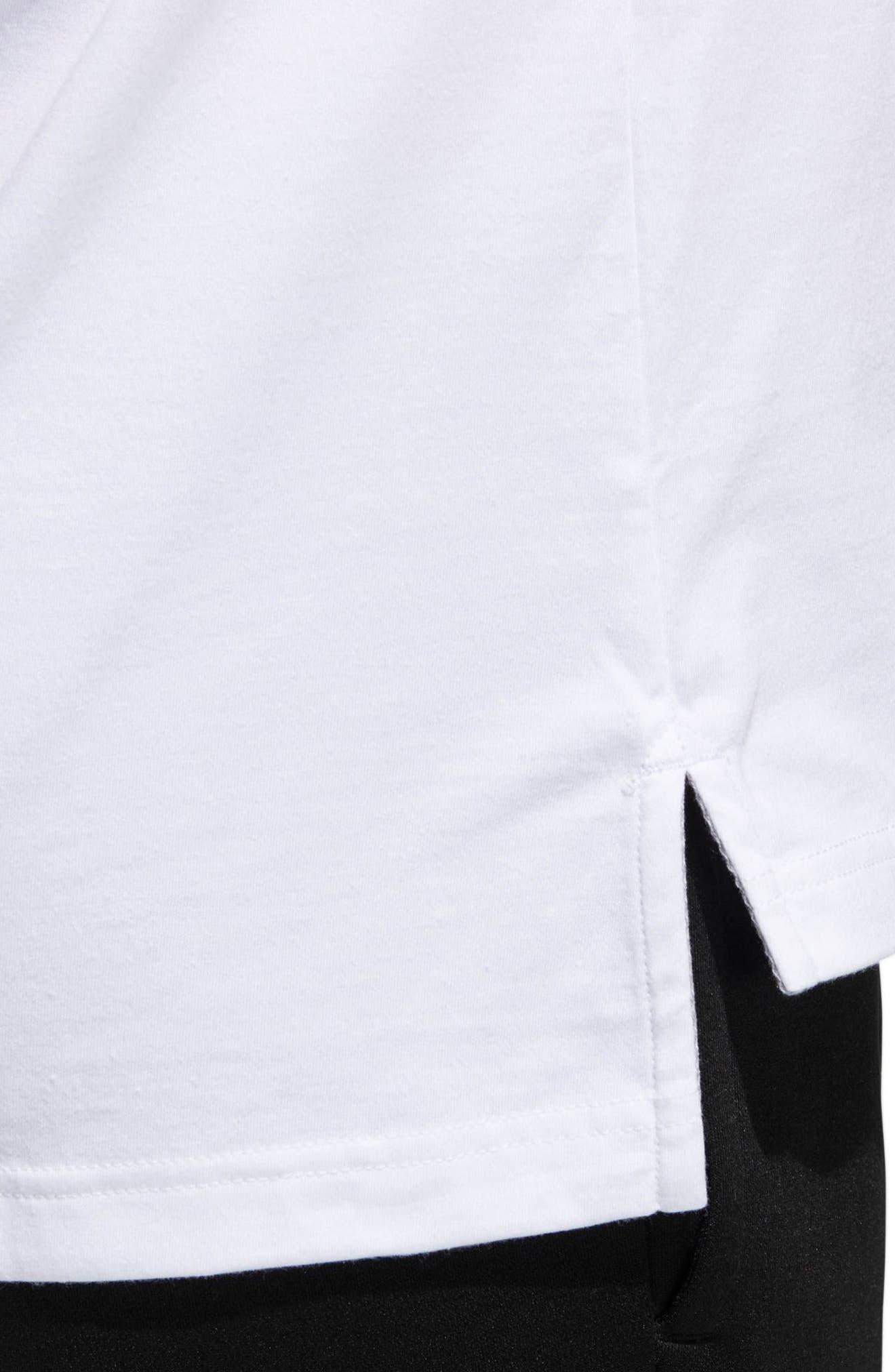 BOS Label T-Shirt,                             Alternate thumbnail 3, color,                             White / Black