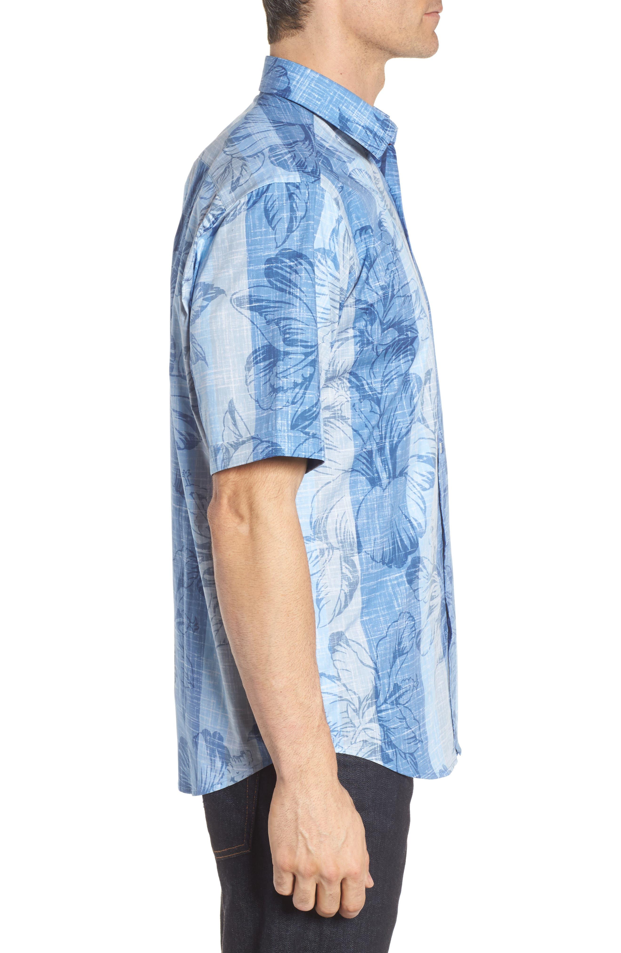 Alternate Image 3  - Bugatchi Classic Fit Floral Sport Shirt