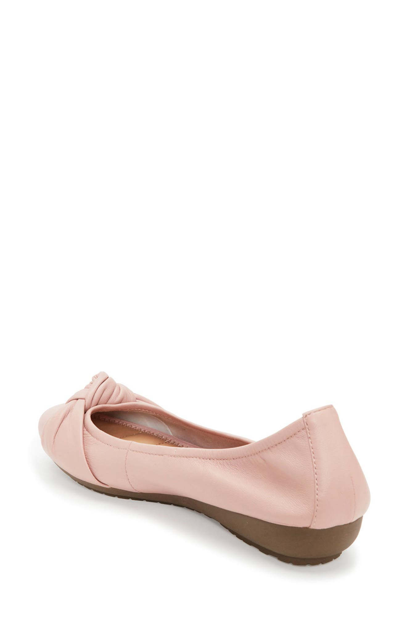 Jaci Flat,                             Alternate thumbnail 2, color,                             Pink Leather