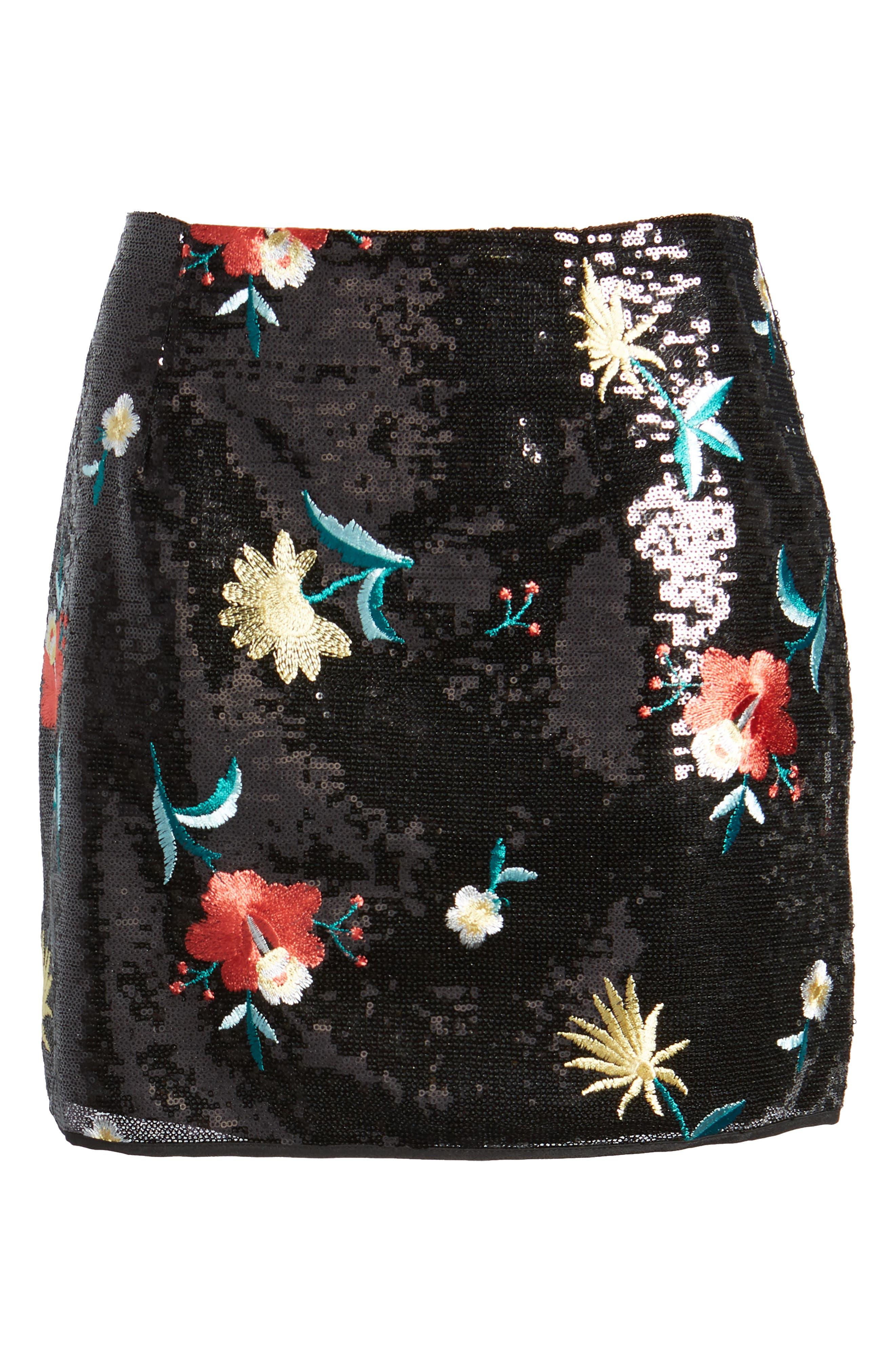 Noma Sequin Miniskirt,                             Alternate thumbnail 7, color,                             Black