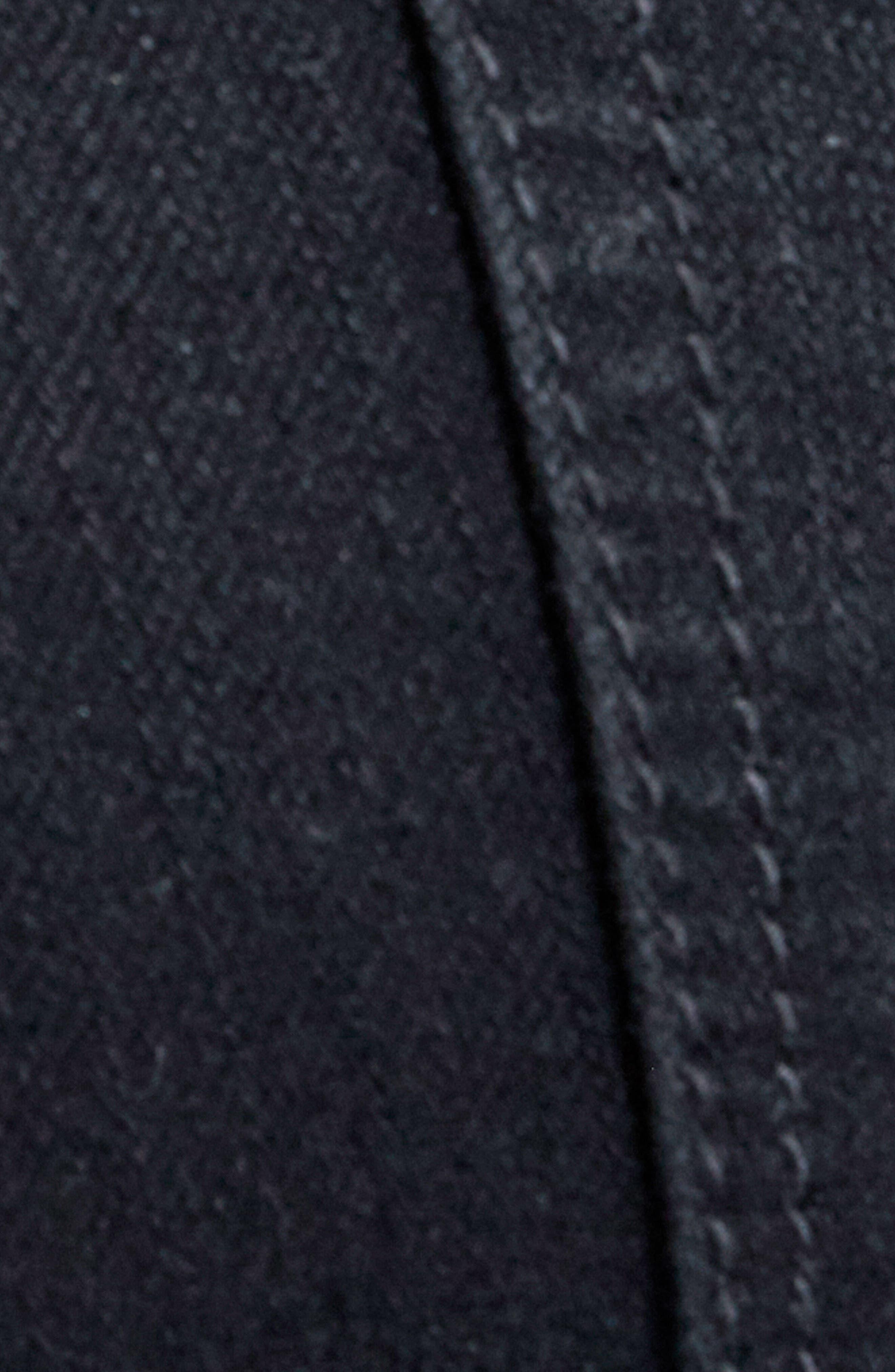 Jayden Stagger Hem Skinny Jeans,                             Alternate thumbnail 5, color,                             Noir