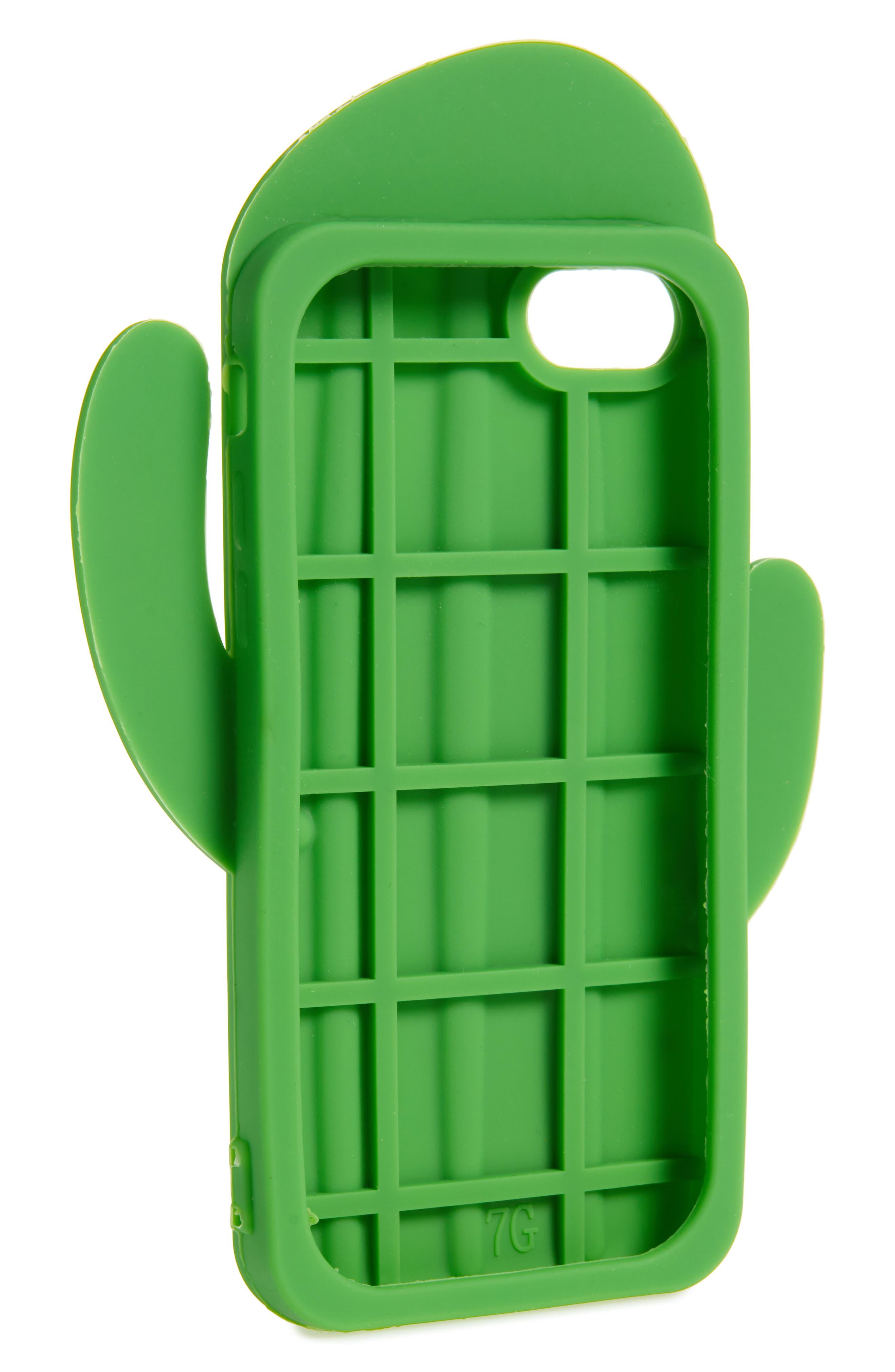 Oversize Soft Cactus iPhone 7/8 Case,                             Alternate thumbnail 2, color,                             Green Multi
