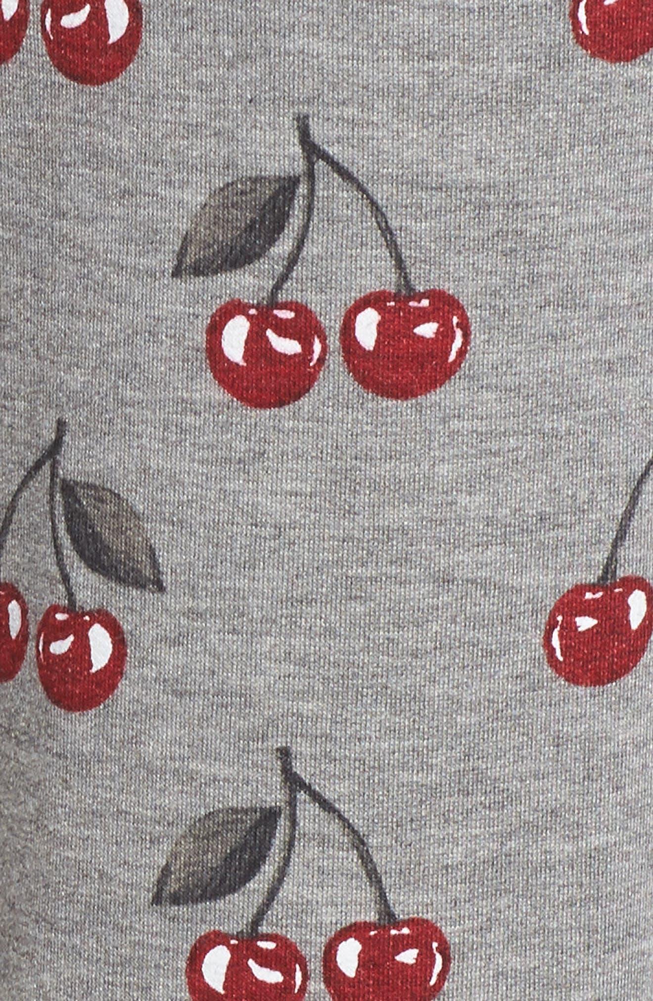 Print Pajama Pants,                             Alternate thumbnail 7, color,                             Heather Grey