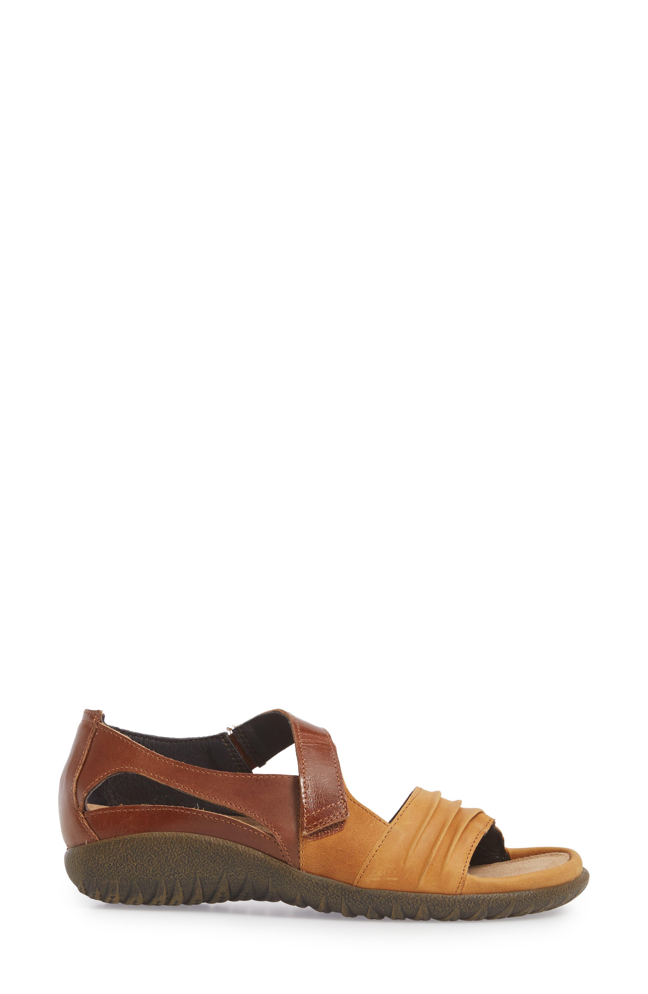 'Papaki' Sandal,                             Alternate thumbnail 3, color,                             Oily Dune Nubuck
