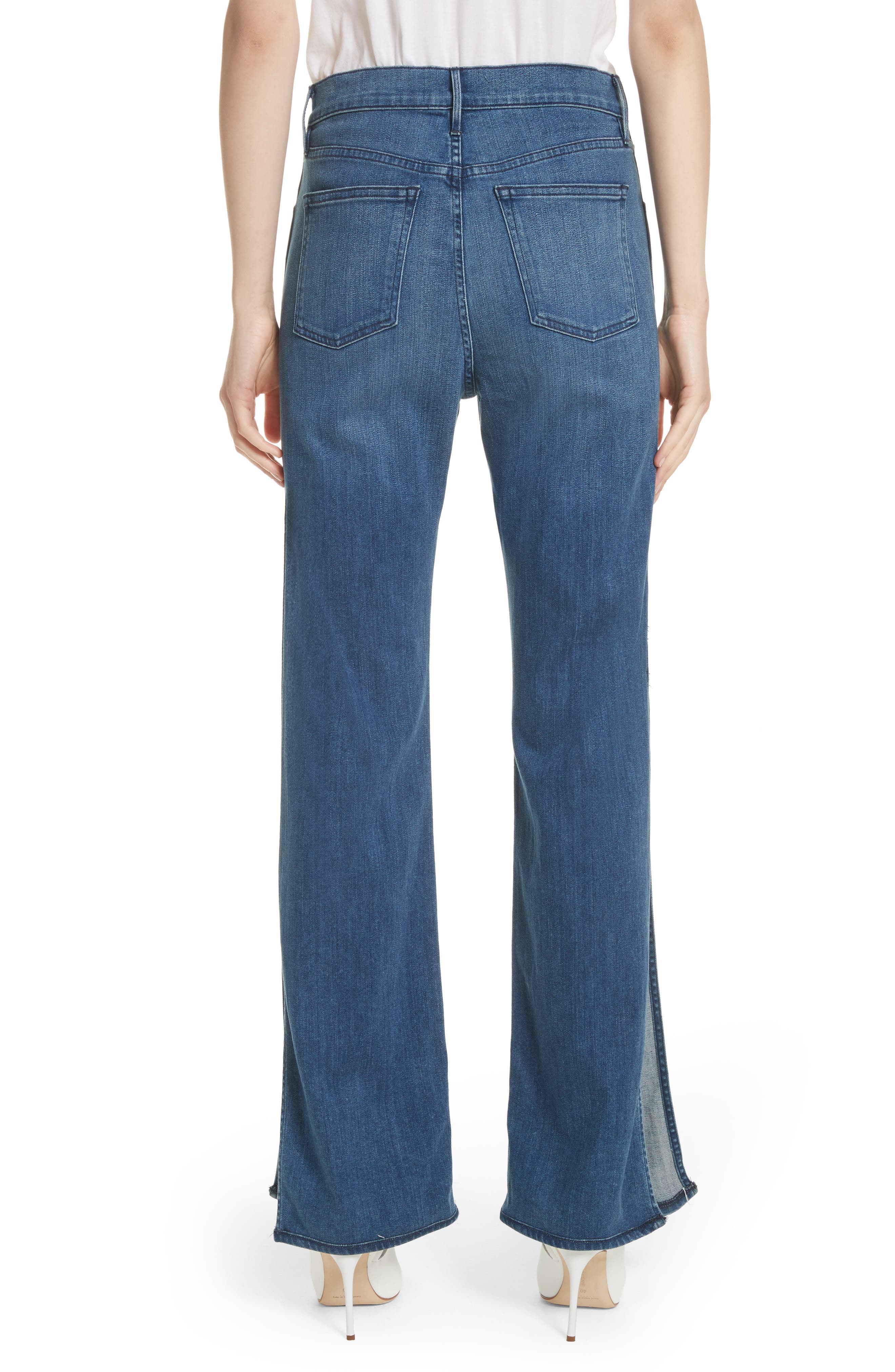 W4 Adeline High Waist Split Flare Jeans,                             Alternate thumbnail 2, color,                             Leia
