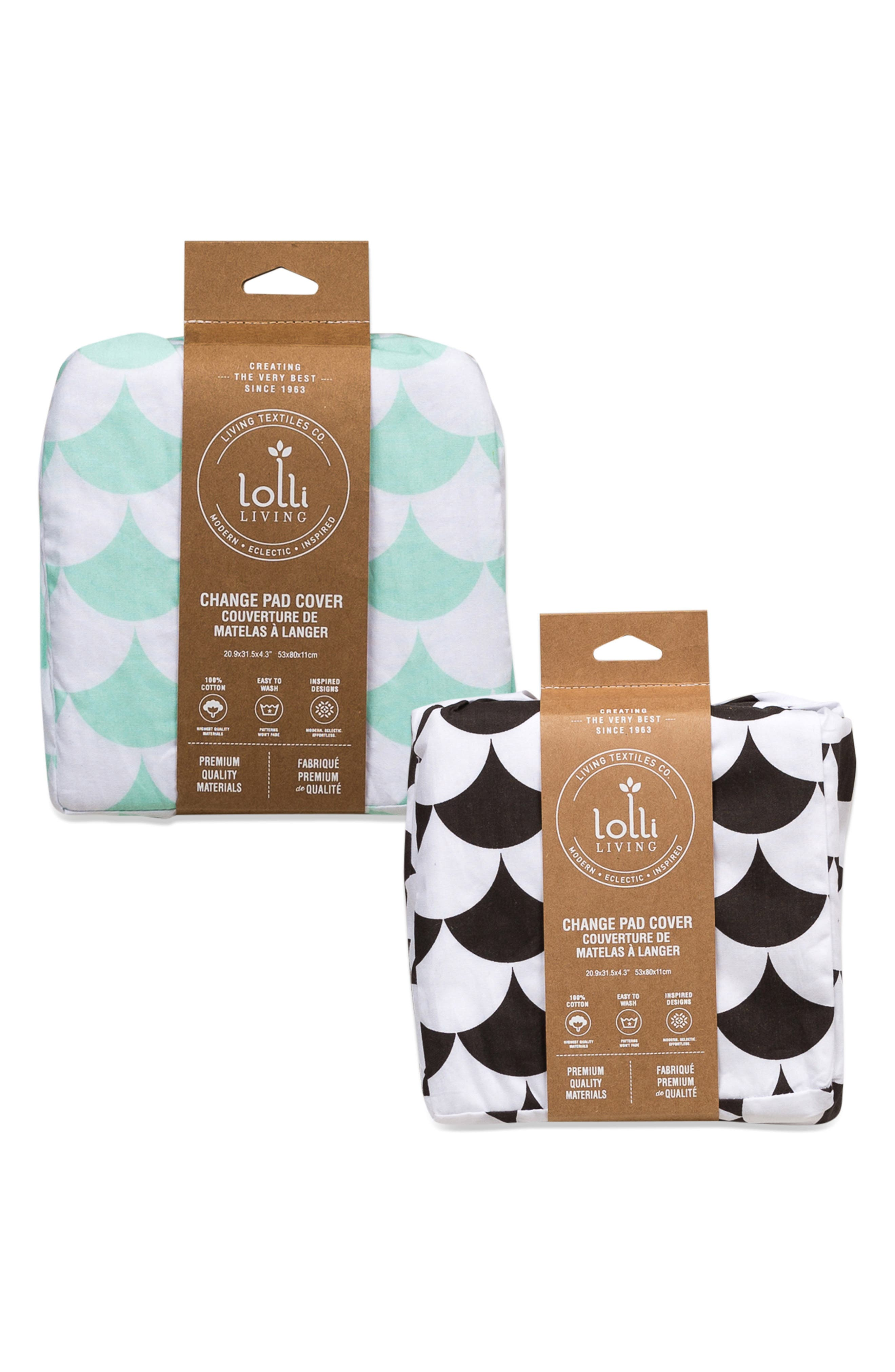 Alternate Image 3  - Living Textiles Kayden Set of 2 Changing Pad Covers