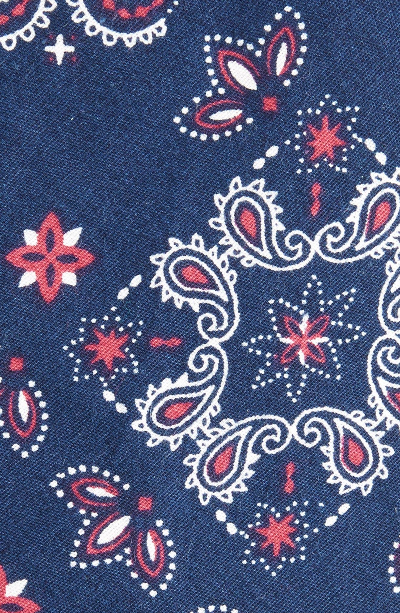 Alternate Image 2  - Nordstrom Men's Shop Leblanc Paisley Cotton Skinny Tie