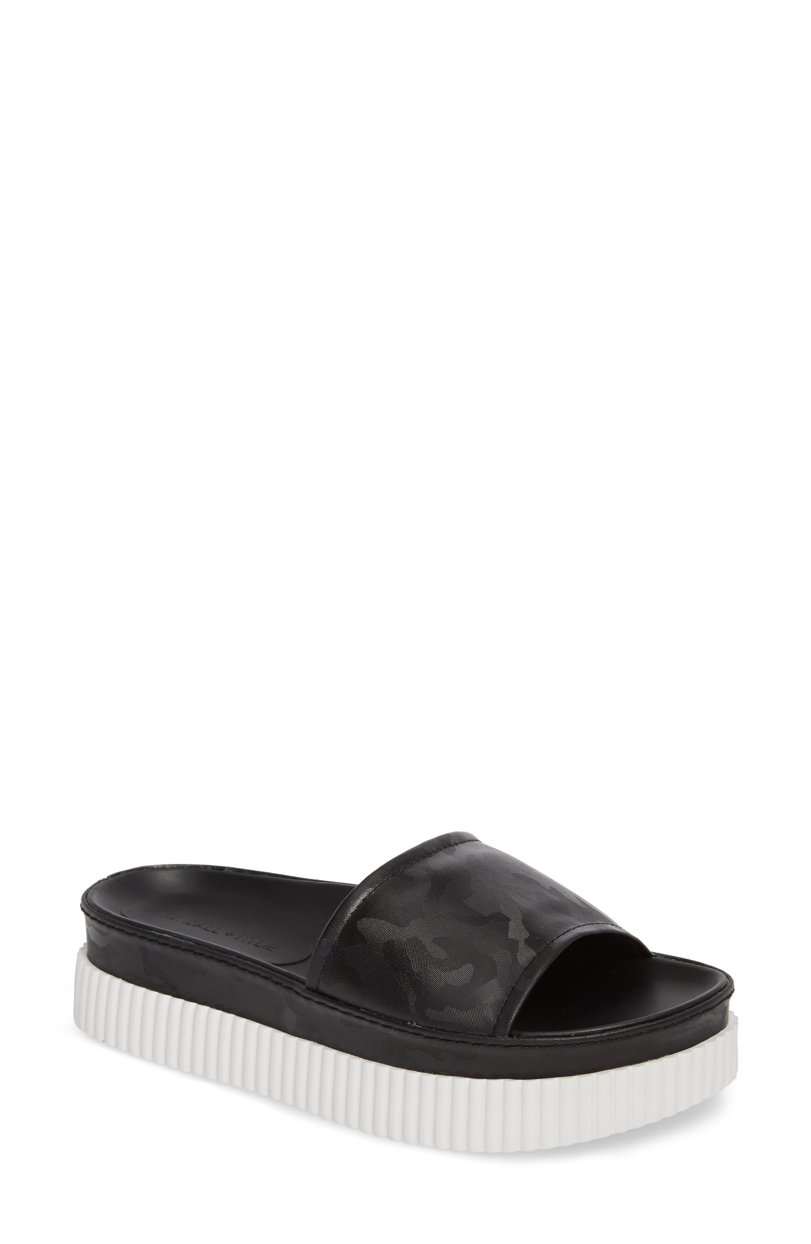Isla Pool Slide Sandal,                             Main thumbnail 1, color,                             Black/ Camo
