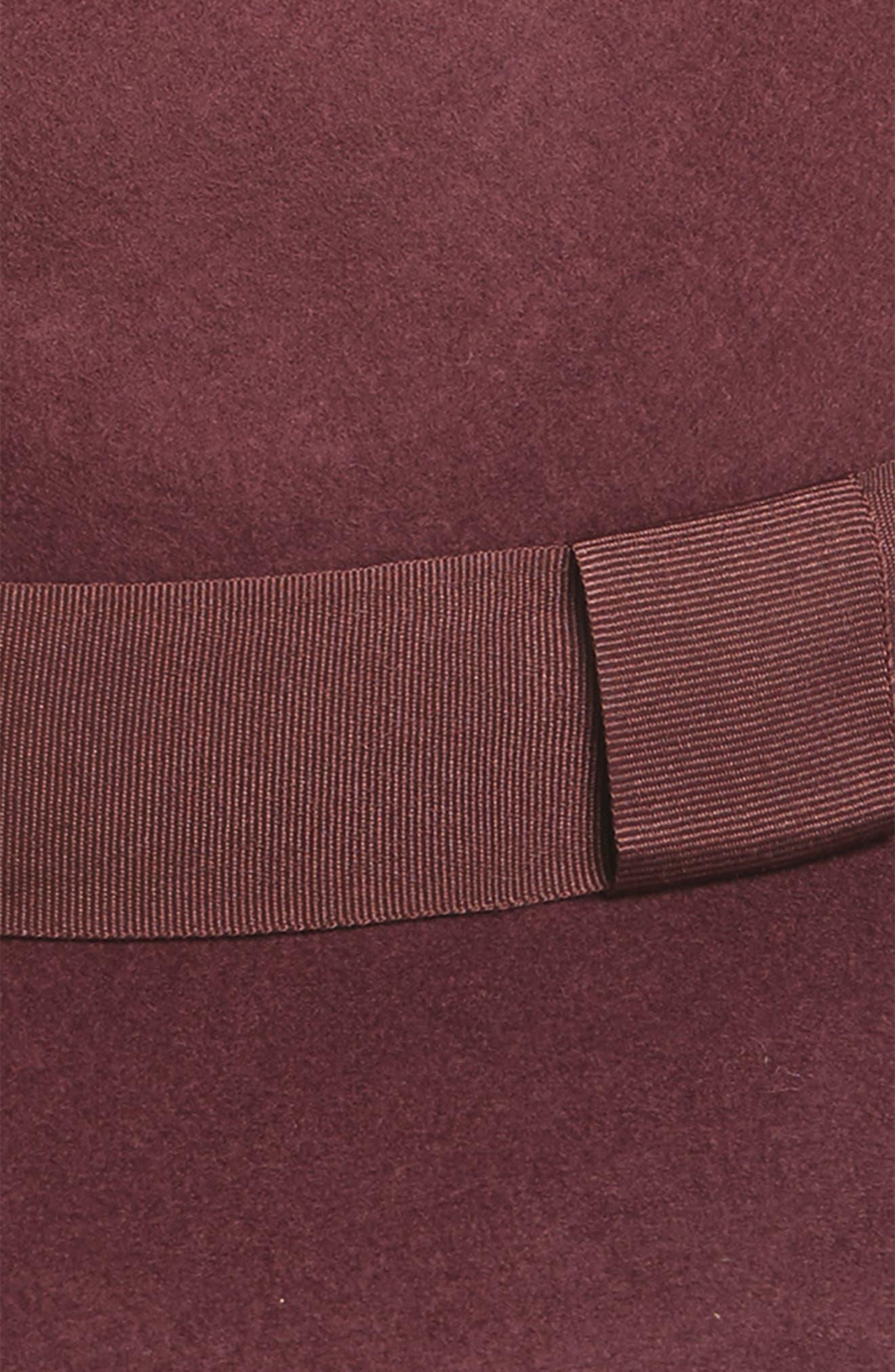 Wool Panama Hat,                             Alternate thumbnail 2, color,                             Burgundy