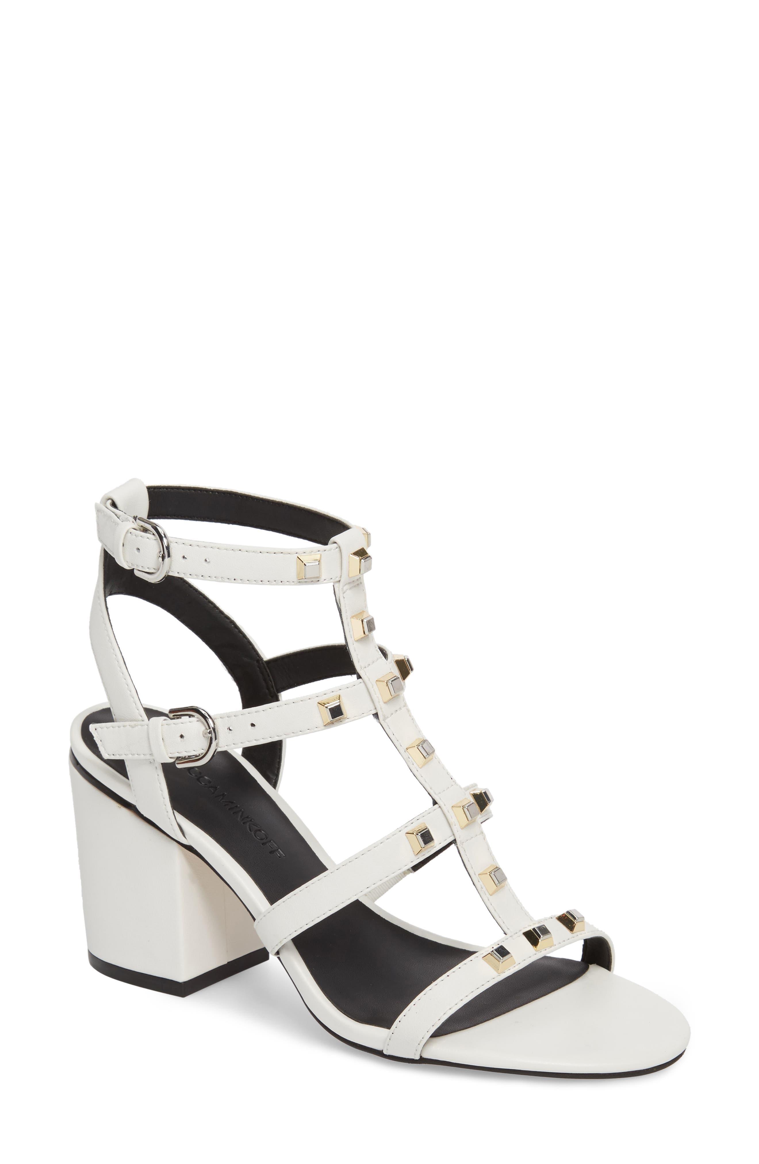 Lenore Sandal,                             Main thumbnail 1, color,                             Optic White Leather