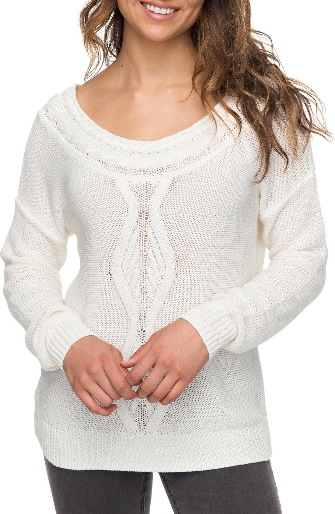 Choose to Shine Sweater,                         Main,                         color, Marshmellow