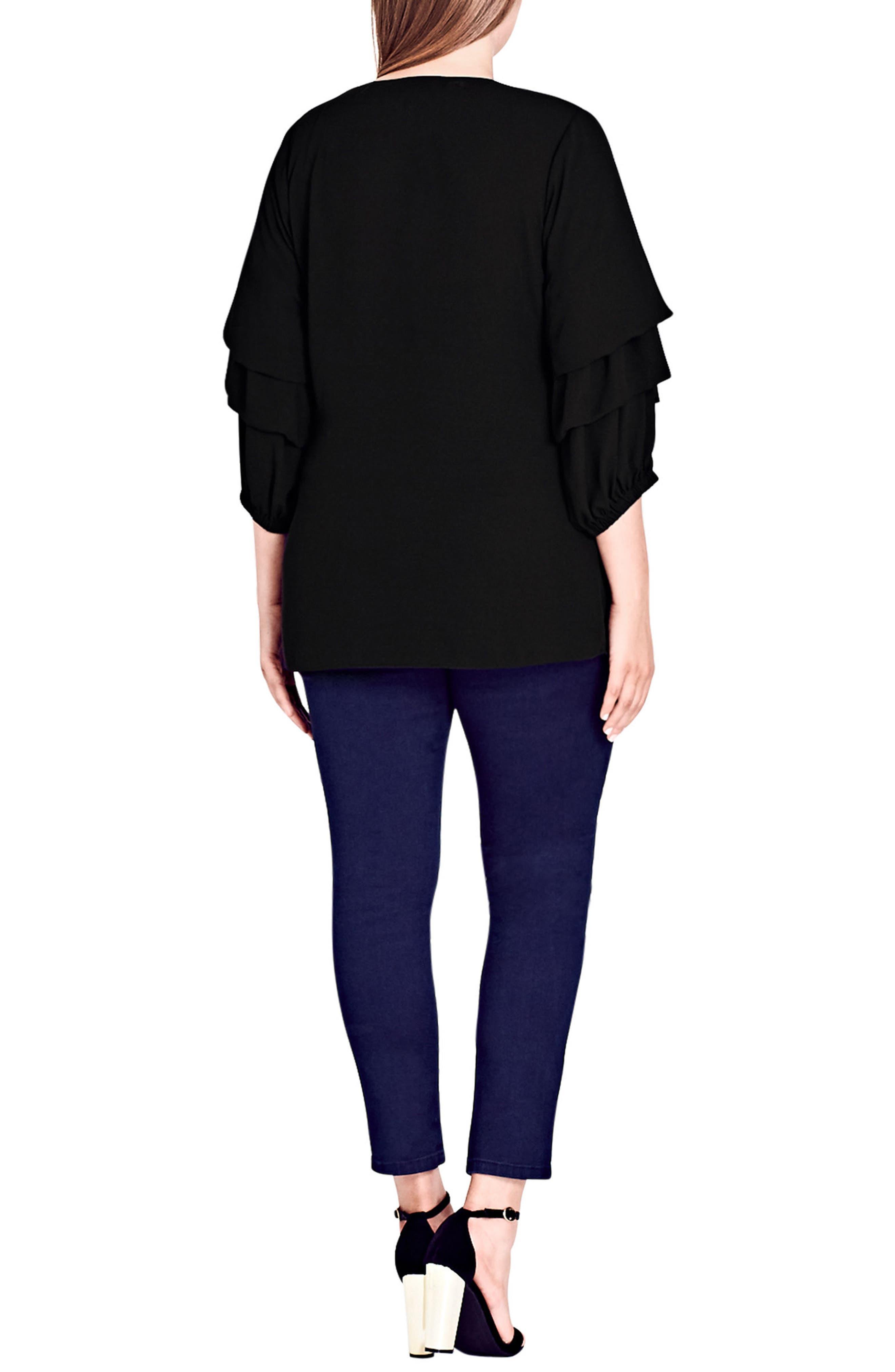 Alternate Image 4  - City Chic Desire Faux Wrap Shirt (Plus Size)