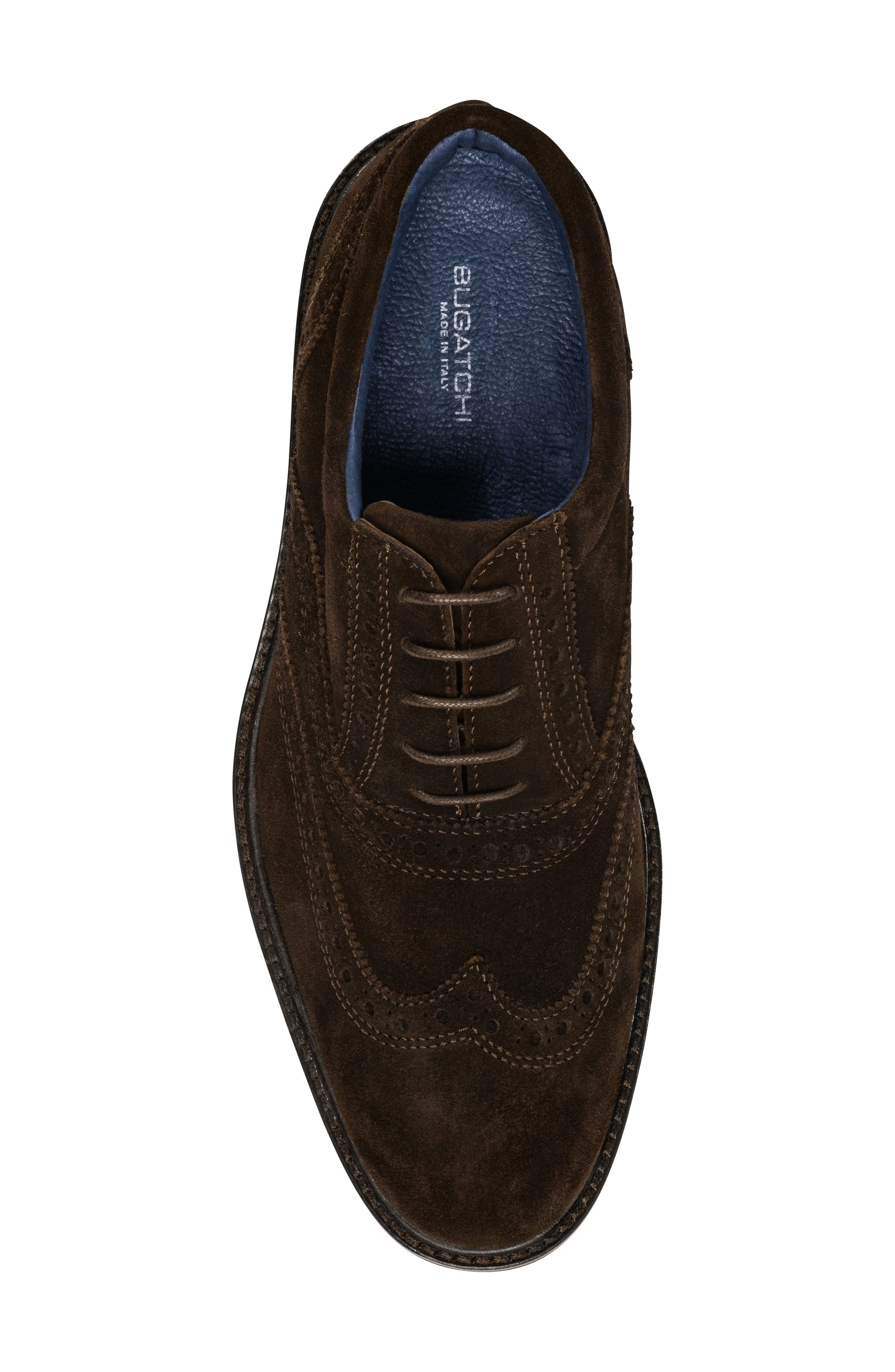 Sorento Wingtip,                             Alternate thumbnail 5, color,                             Brown Leather