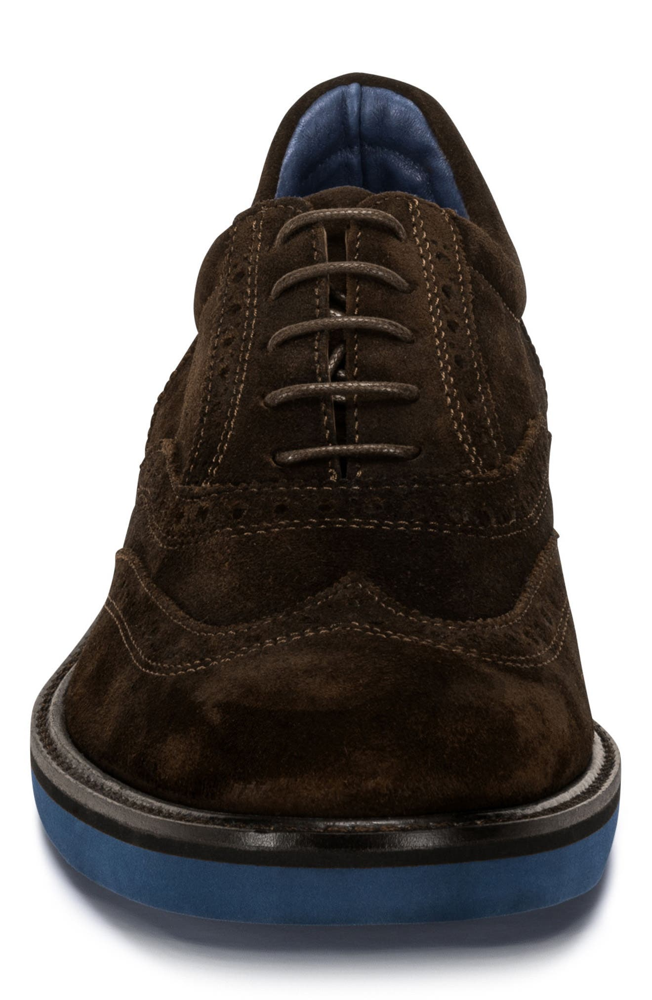 Sorento Wingtip,                             Alternate thumbnail 4, color,                             Brown Leather