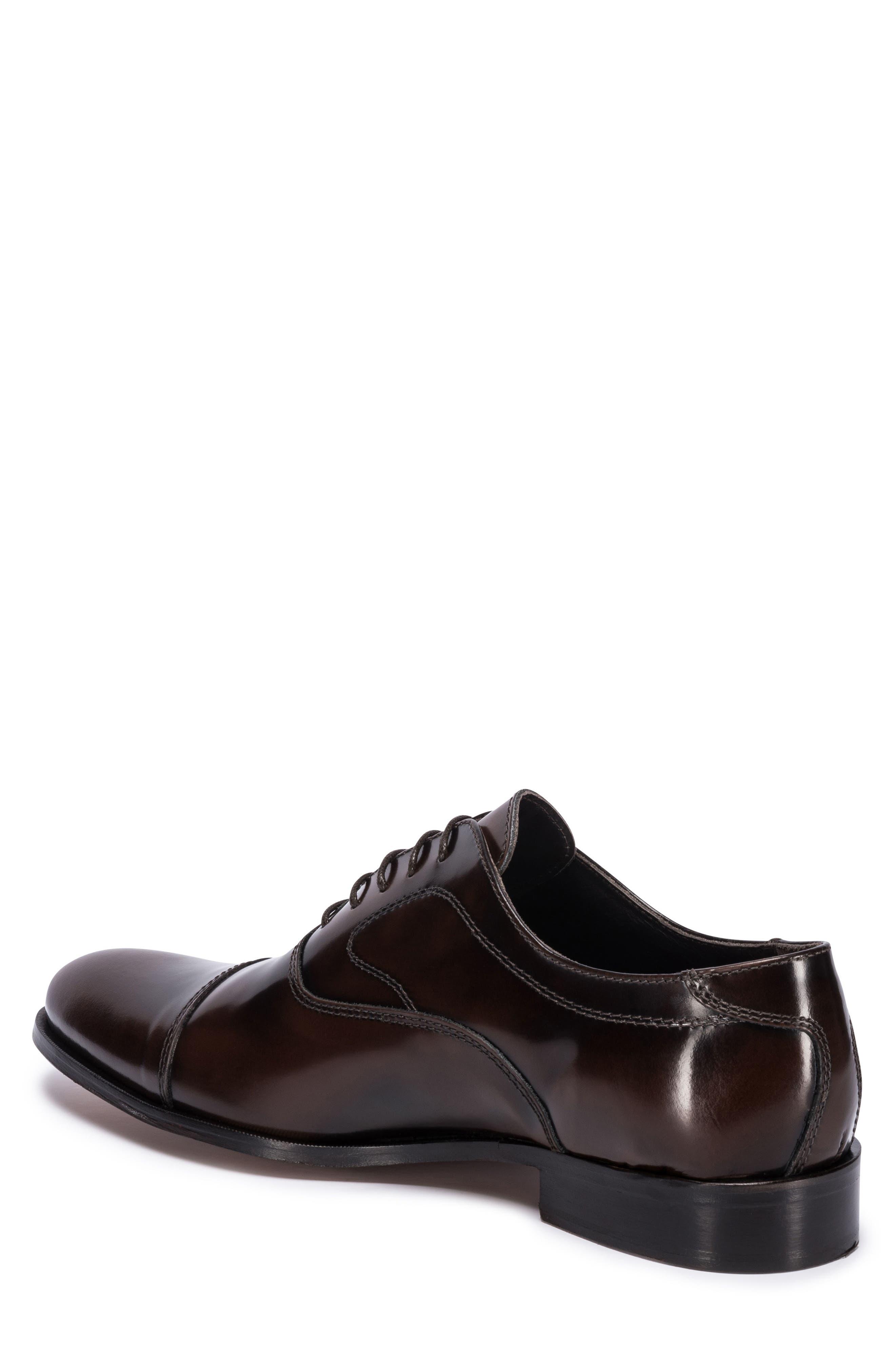 Garda Cap Toe Oxford,                             Alternate thumbnail 2, color,                             Brown Leather