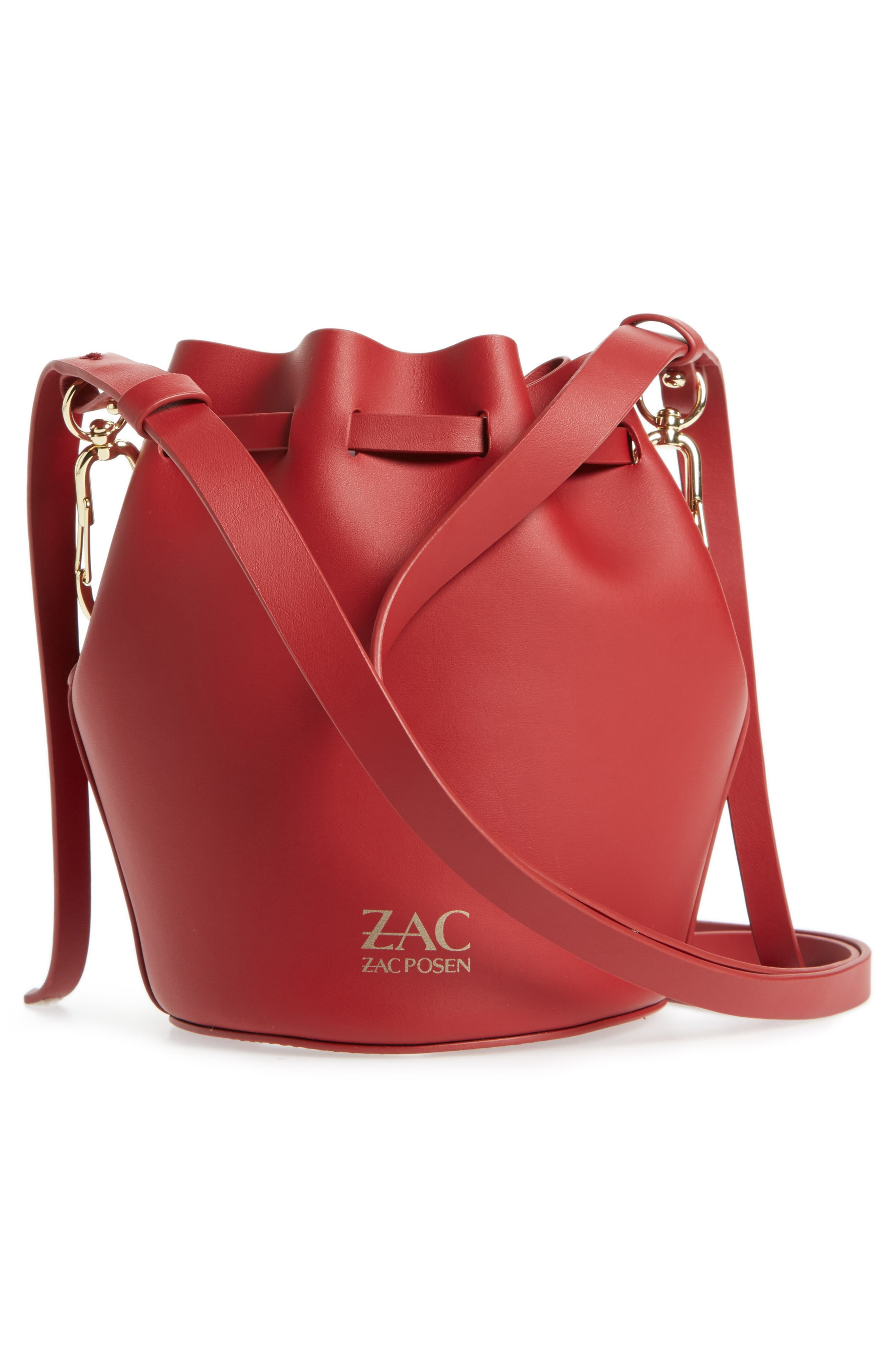 Alternate Image 3  - ZAC Zac Posen Mini Belay Calfskin Leather Drawstring Bag