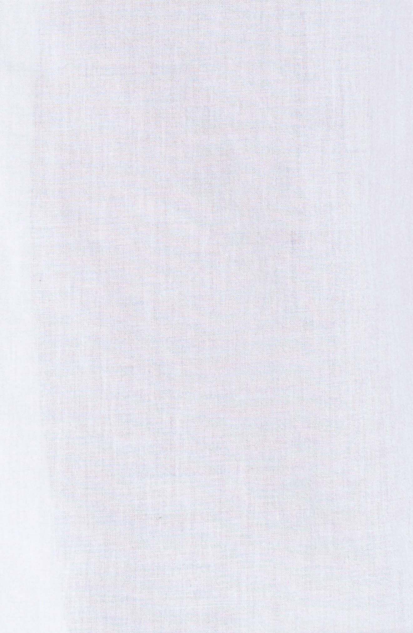 Embroidered Peasant Sleeve Top,                             Alternate thumbnail 5, color,                             White