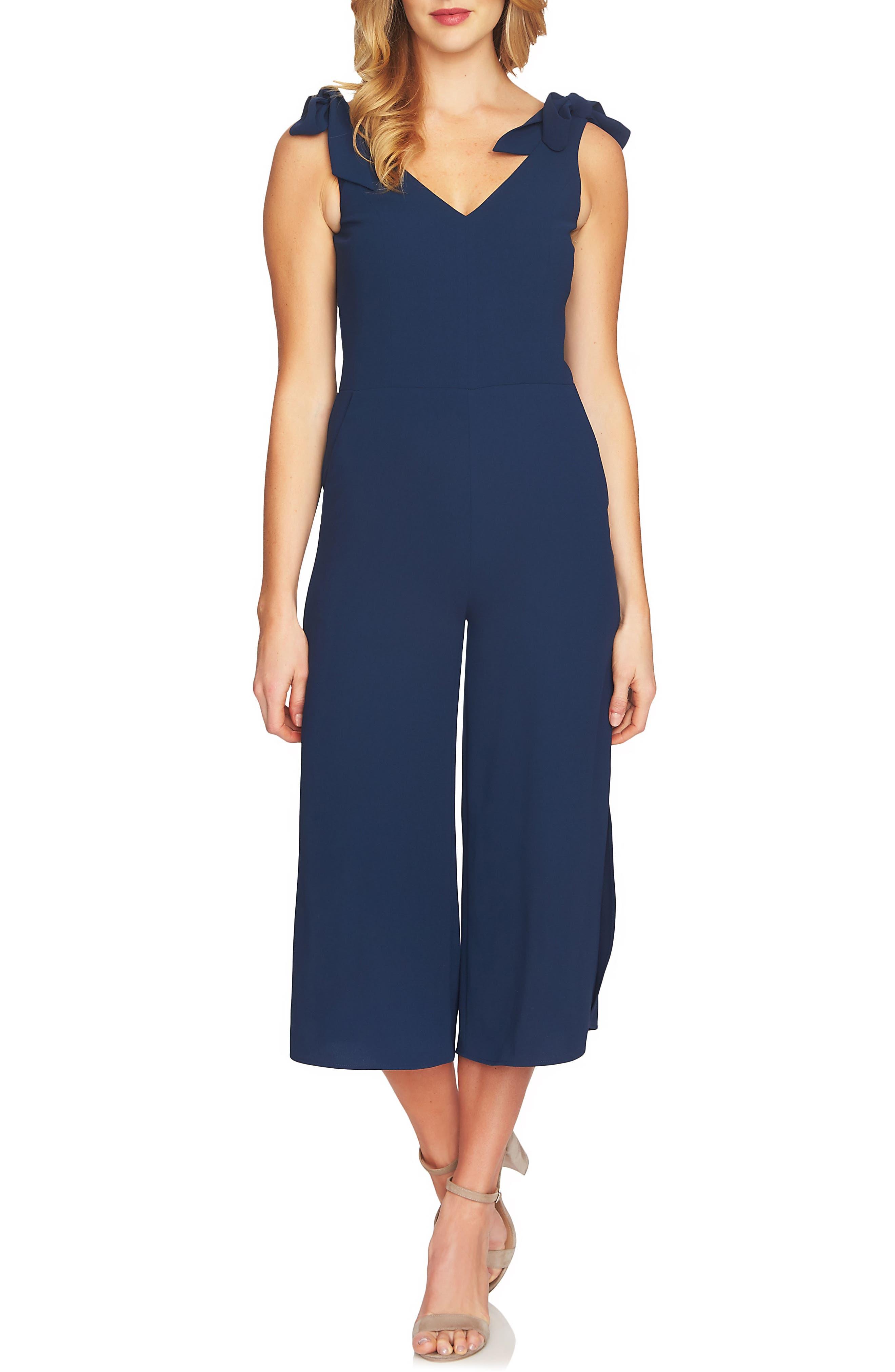 CeCe Shoulder Tie Crop Jumpsuit