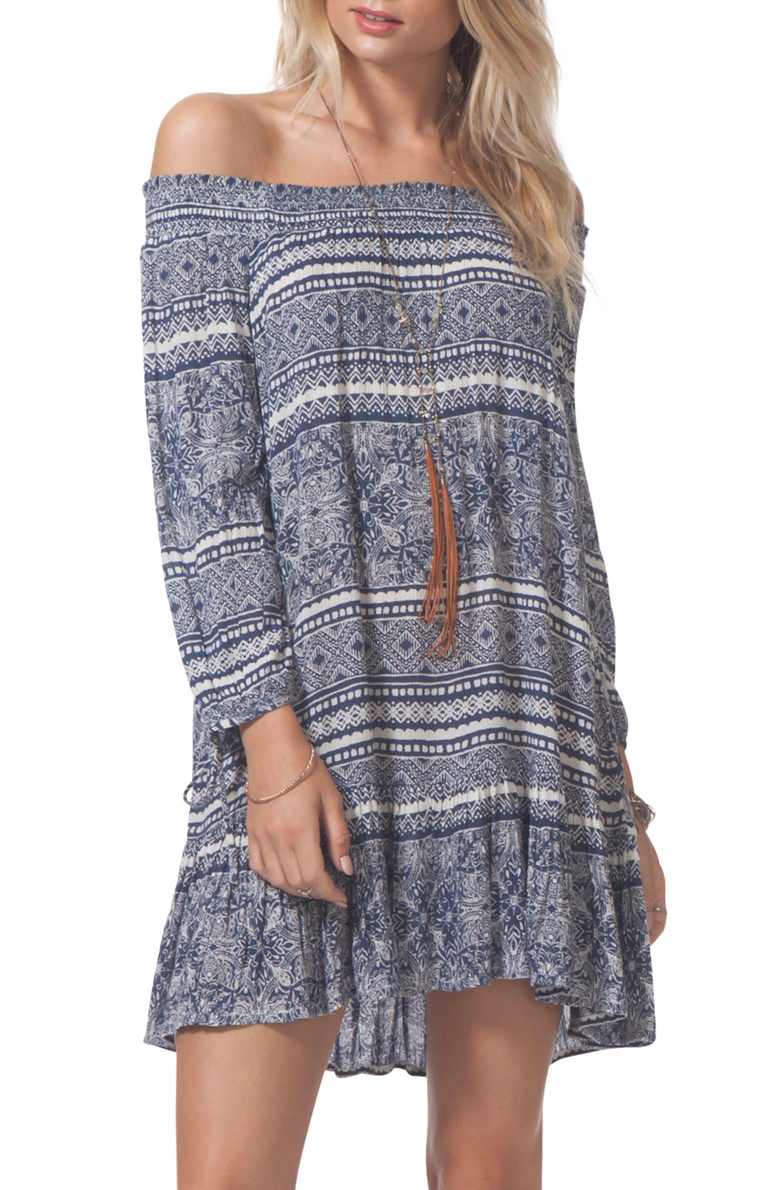 Main Image - Rip Curl Southeast Off the Shoulder Dress