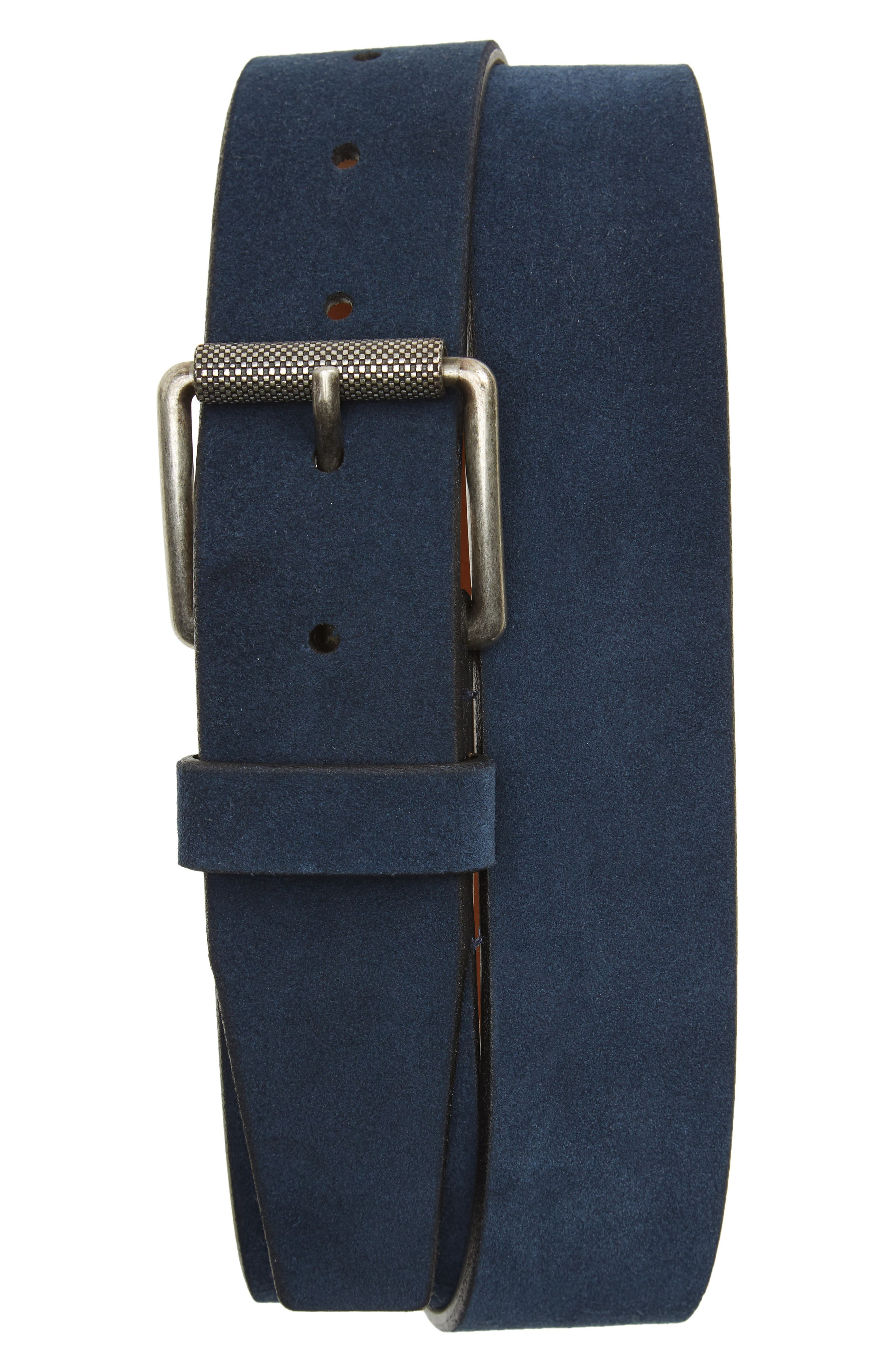 Adrian Suede Belt,                         Main,                         color, Navy Midnight