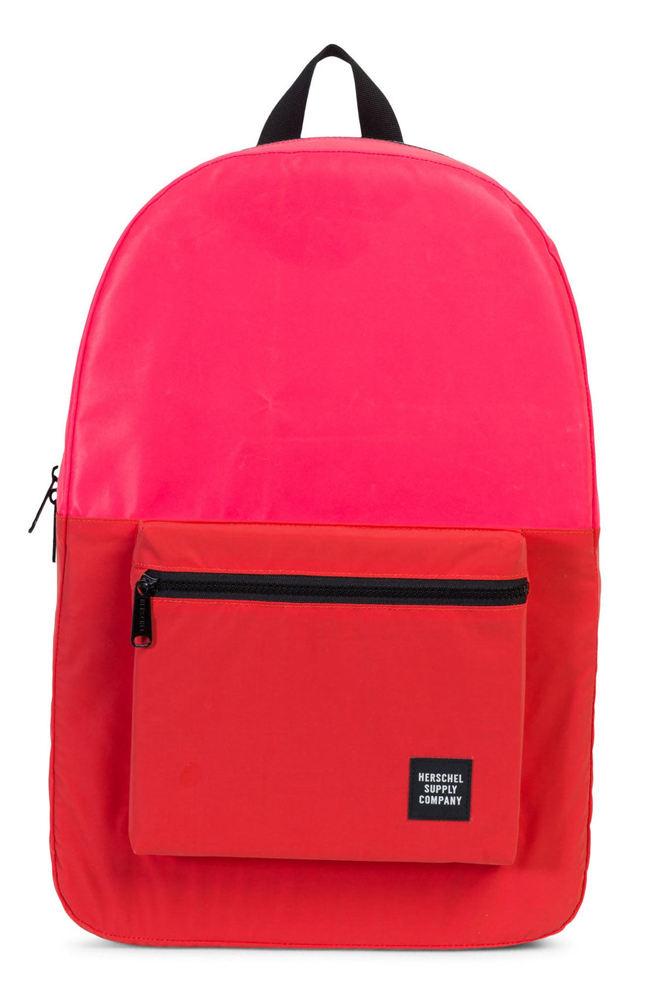 Heritage Reflective Backpack,                         Main,                         color, Neon Pink Reflective/ Red