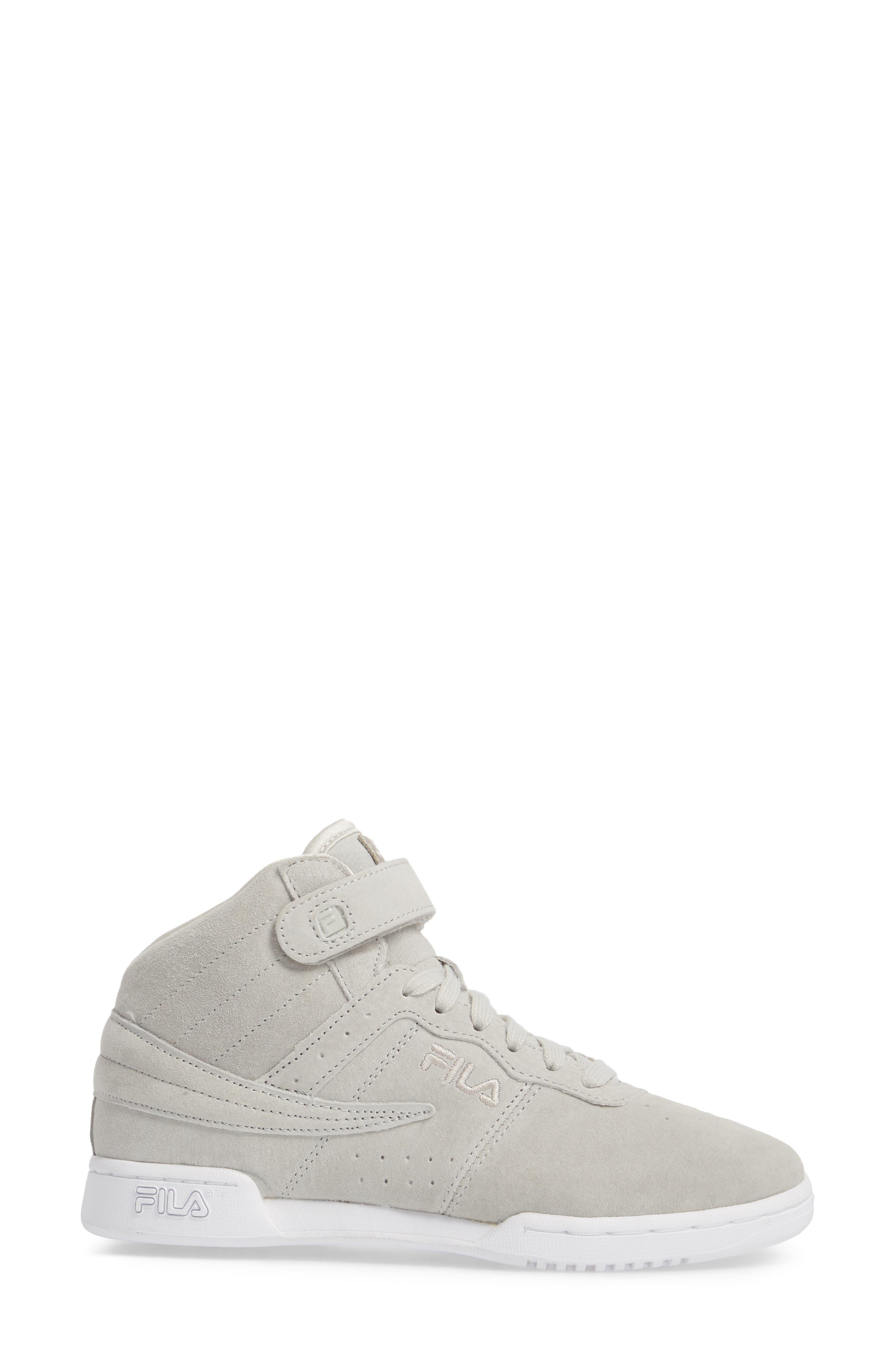 F-13 Premium Mid Top Sneaker,                             Alternate thumbnail 3, color,                             White