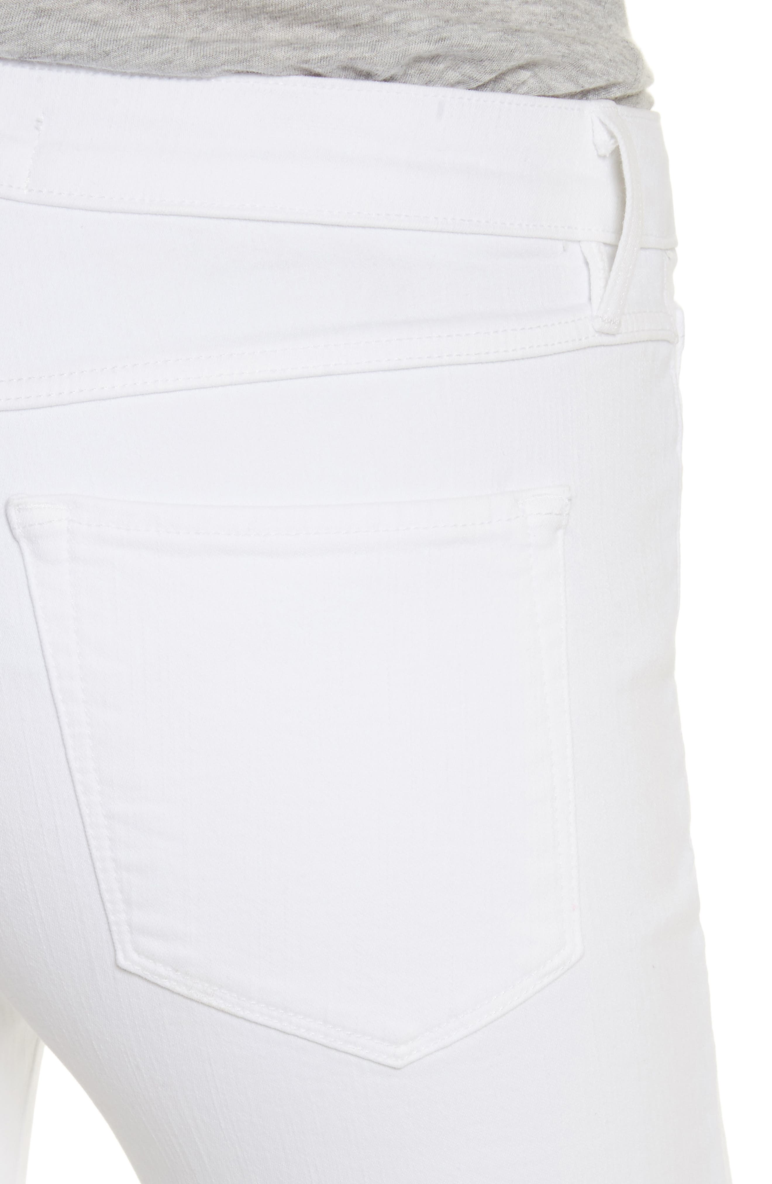W2 Crop Skinny Jeans,                             Alternate thumbnail 4, color,                             White Tear