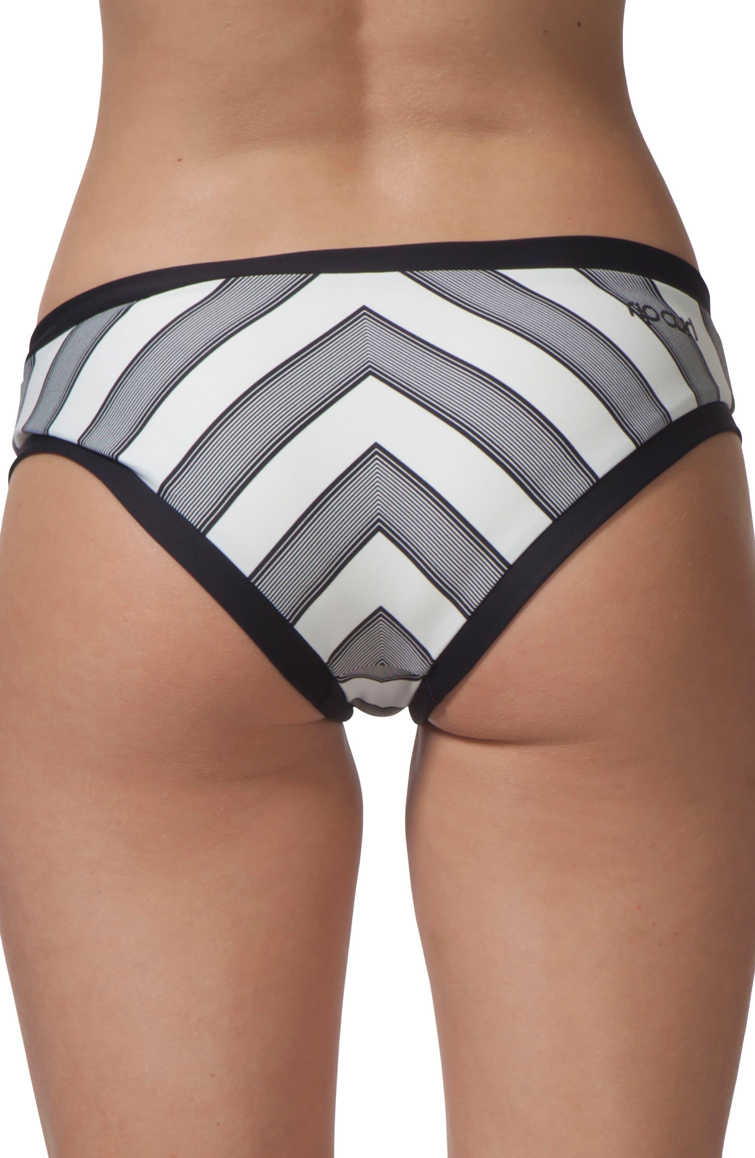 Mirage Line Up Hipster Bikini Bottoms,                             Alternate thumbnail 2, color,                             Black