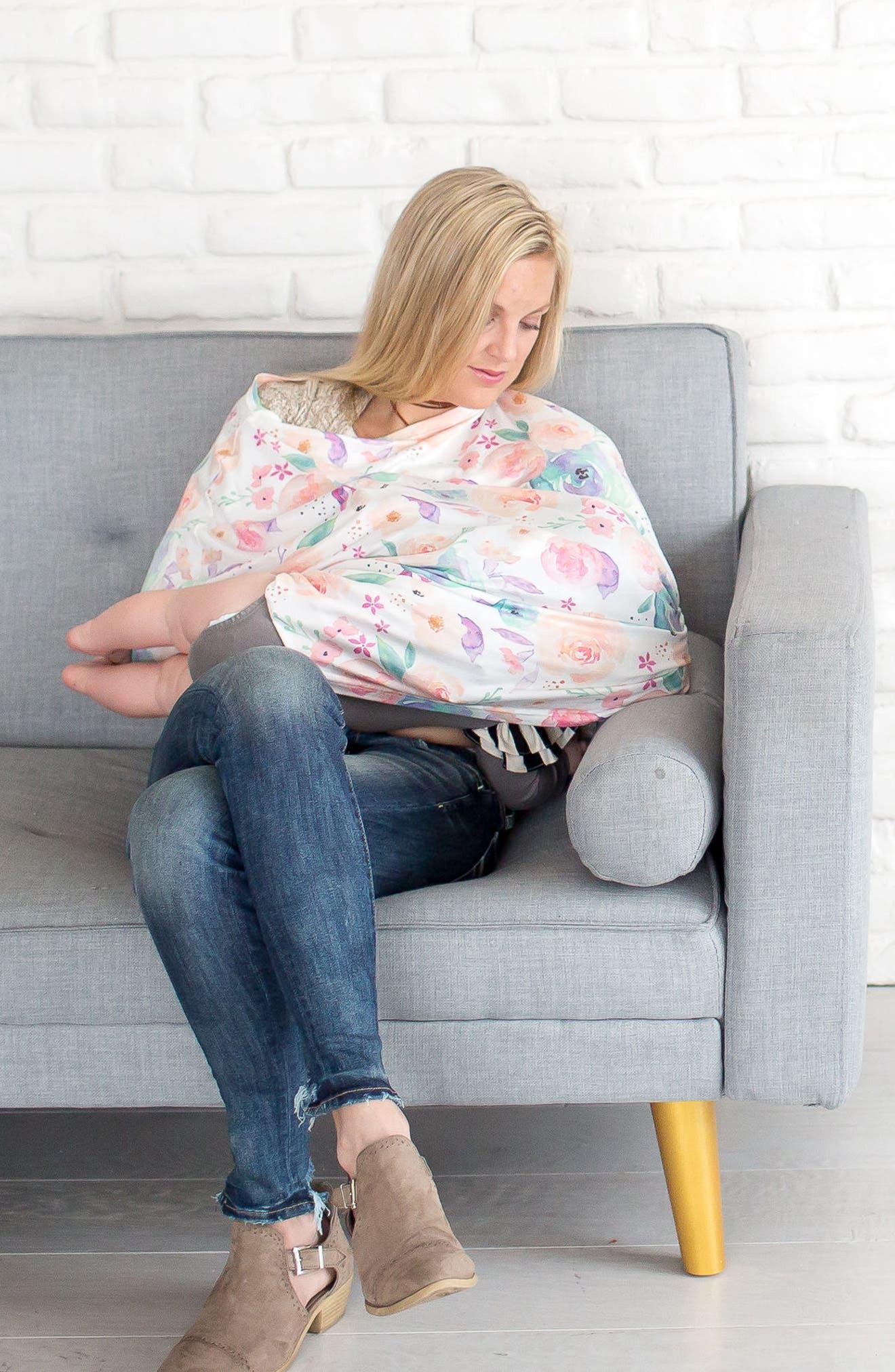 Bloom Multiuse Cover & Swaddle Blanket Gift Set,                             Alternate thumbnail 18, color,                             Bloom