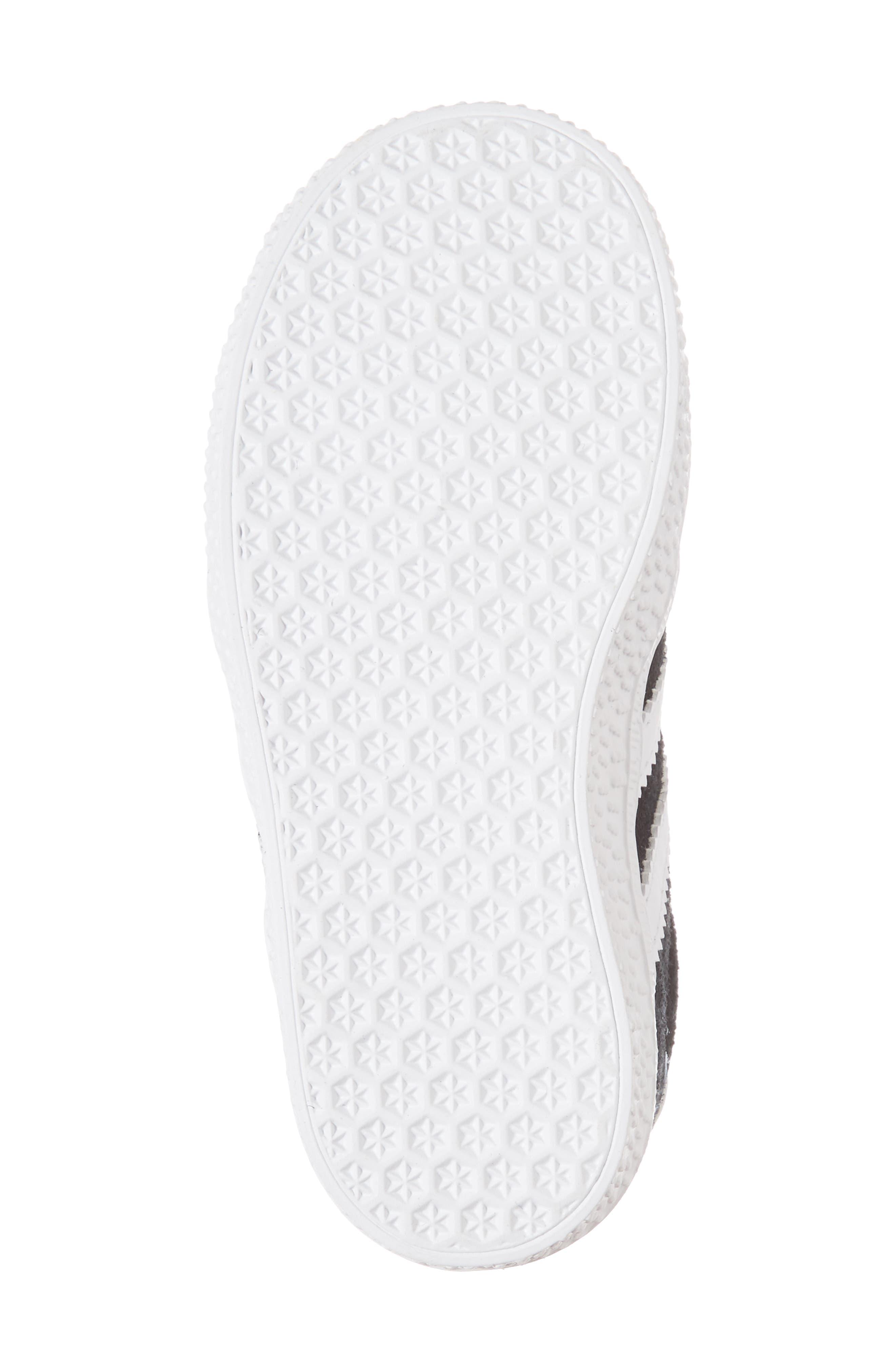 Gazelle Sneaker,                             Alternate thumbnail 7, color,                             Core Black / White / White