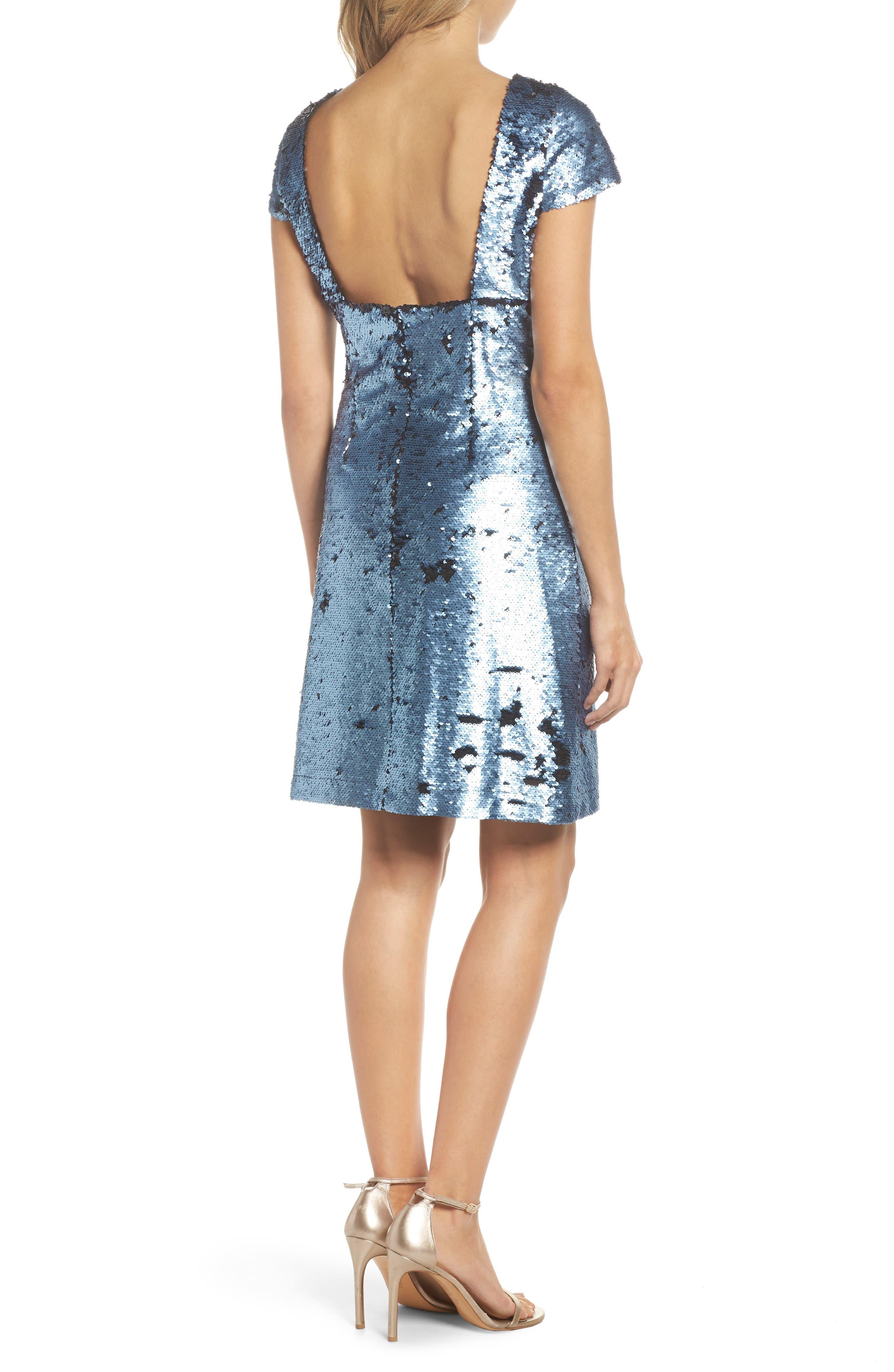 Sequin Sheath Dress,                             Alternate thumbnail 2, color,                             Blue