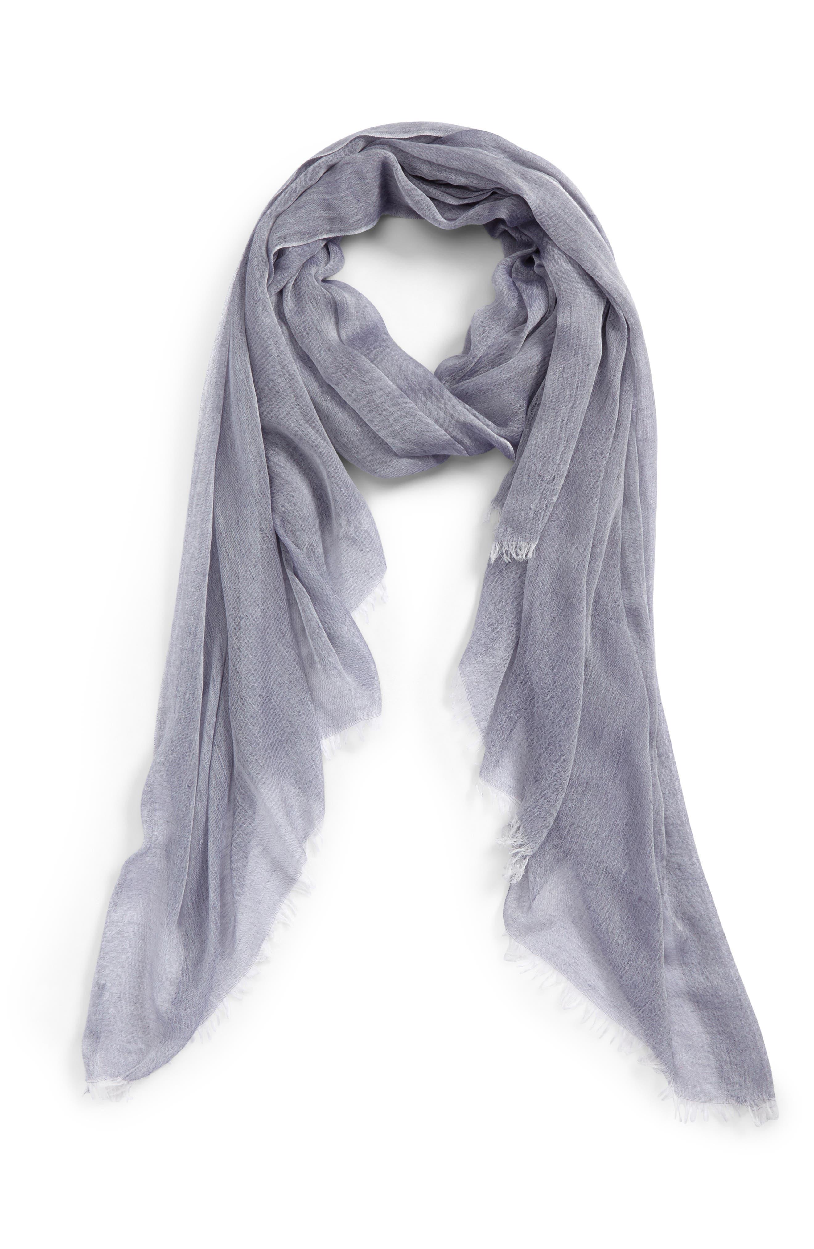 Modal Silk Blend Scarf,                         Main,                         color, Navy Patriot Combo