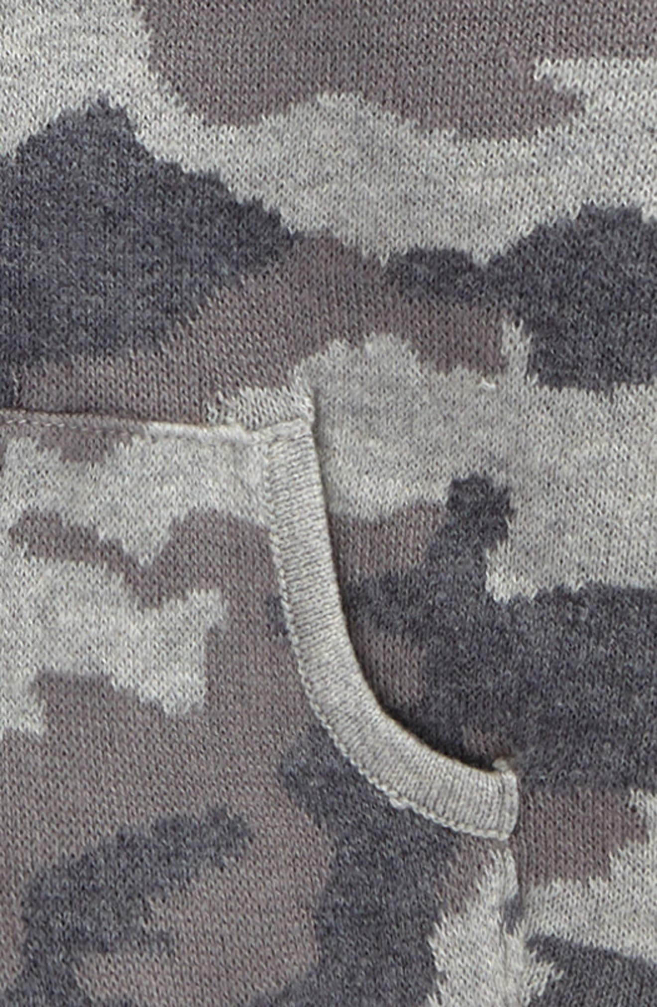 Camo Sweater Knit Hoodie,                             Alternate thumbnail 2, color,                             Grey Alloy Camo