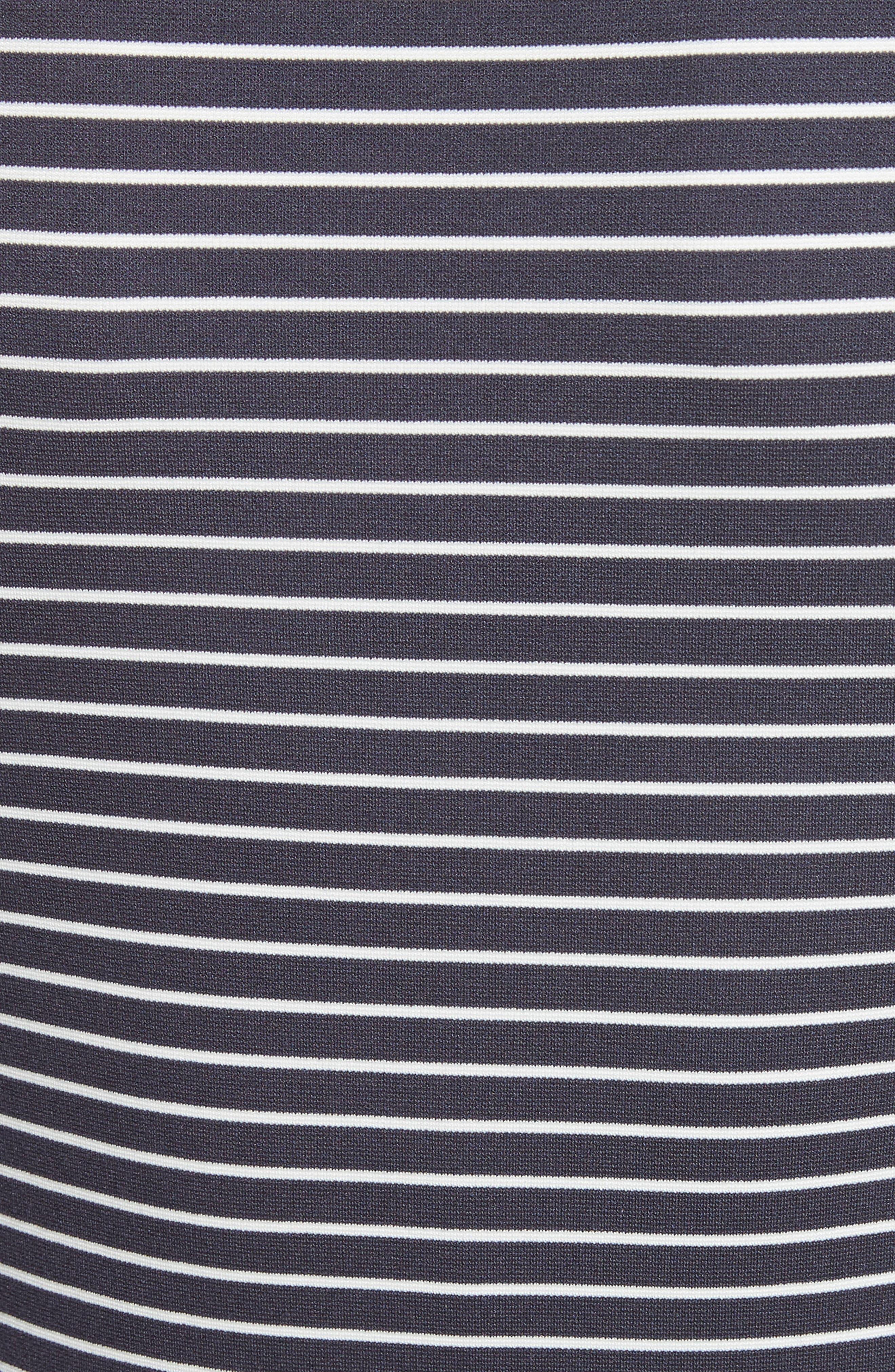 Stripe Bell Sleeve Top,                             Alternate thumbnail 6, color,                             Dark Navy Multi