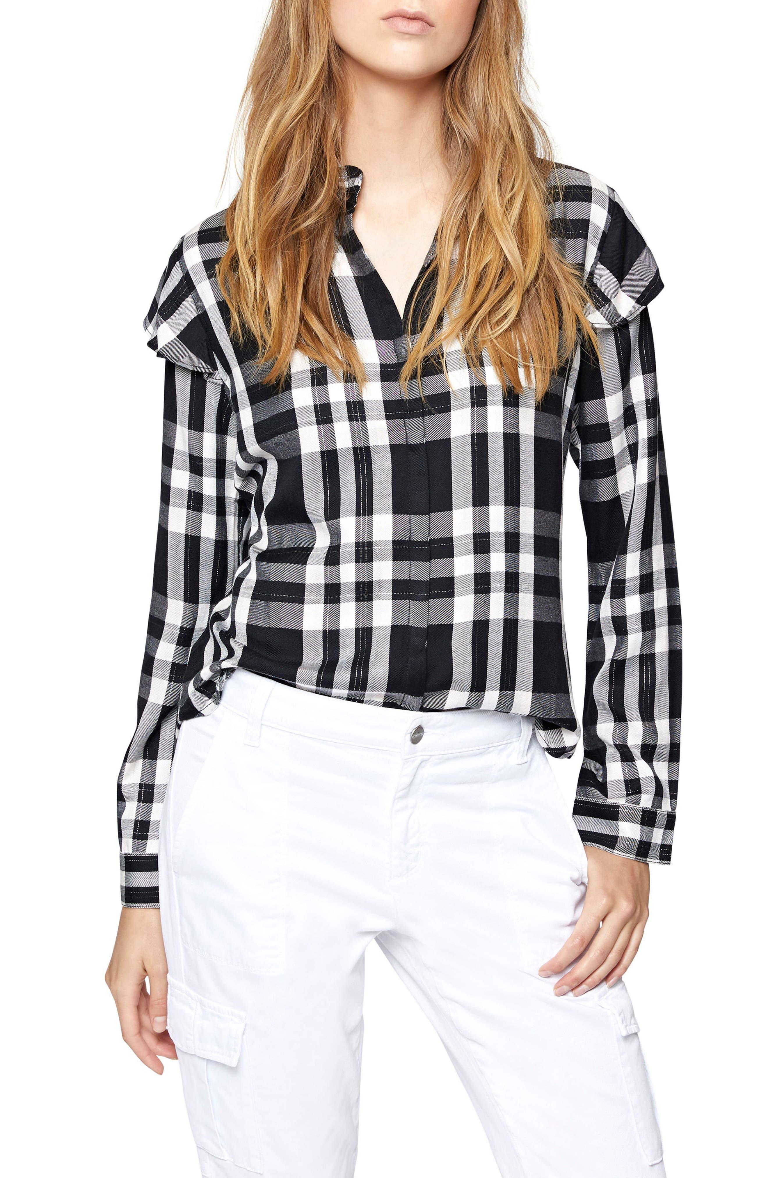 Nightfall Shirt,                         Main,                         color, Silver Rose Plaid