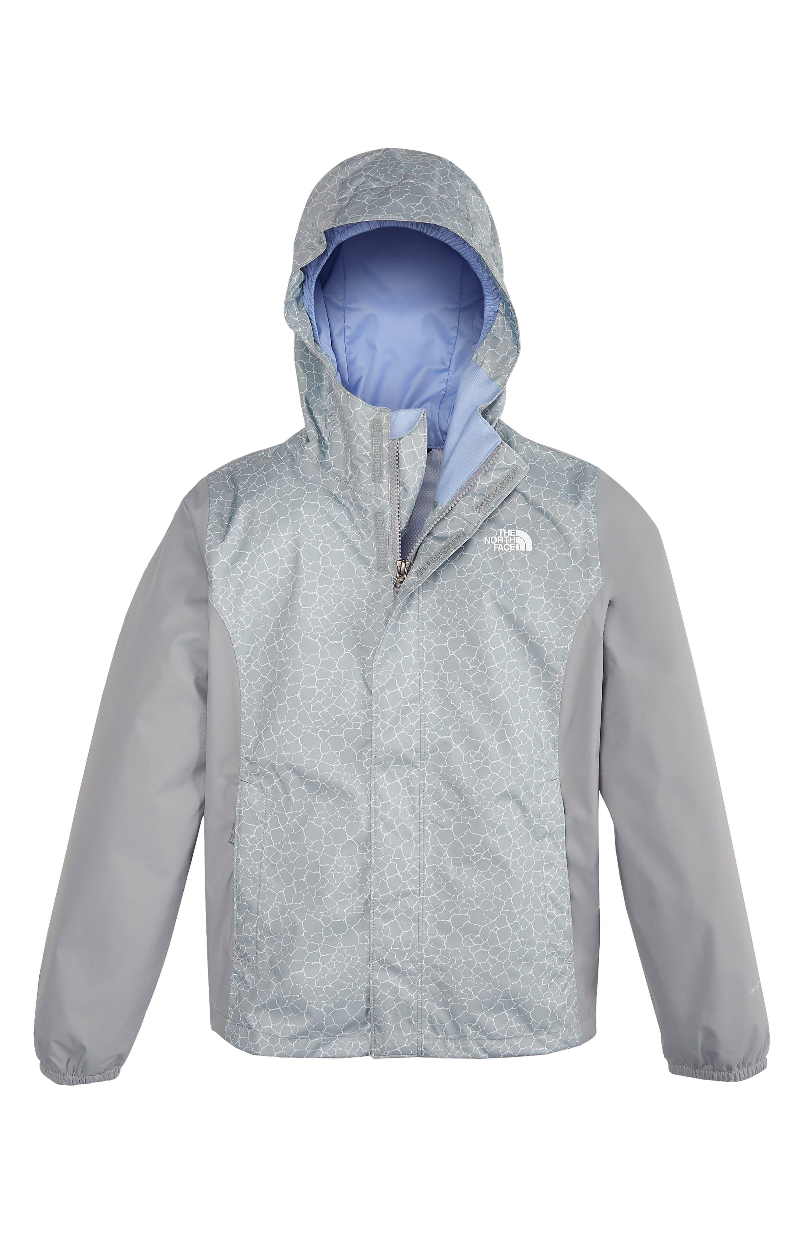 Resolve Reflective Waterproof Hooded Jacket,                         Main,                         color, Mid Grey Crackle Print