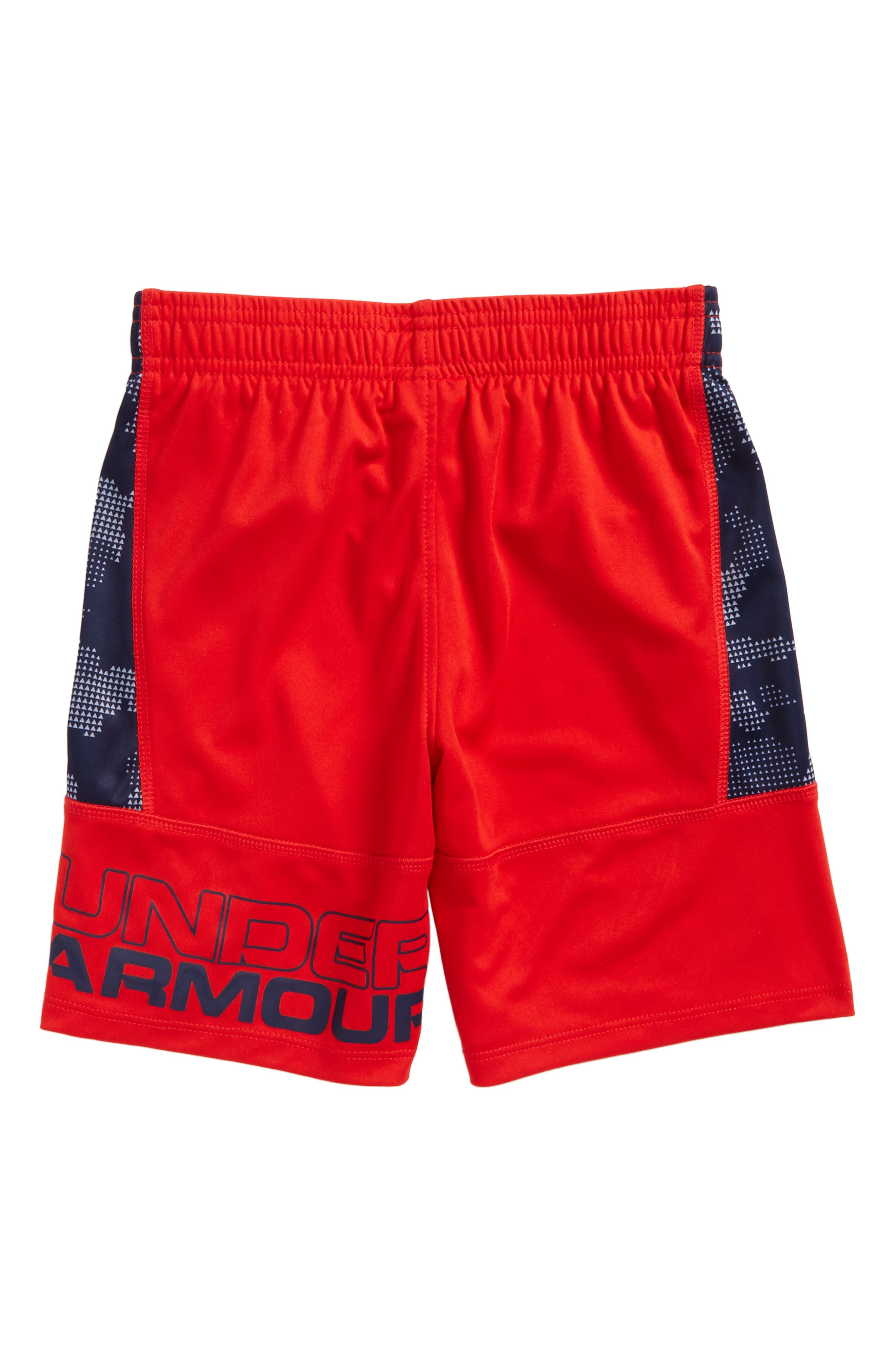 Utility Camo Stunt Athletic Shorts,                             Alternate thumbnail 2, color,                             Red