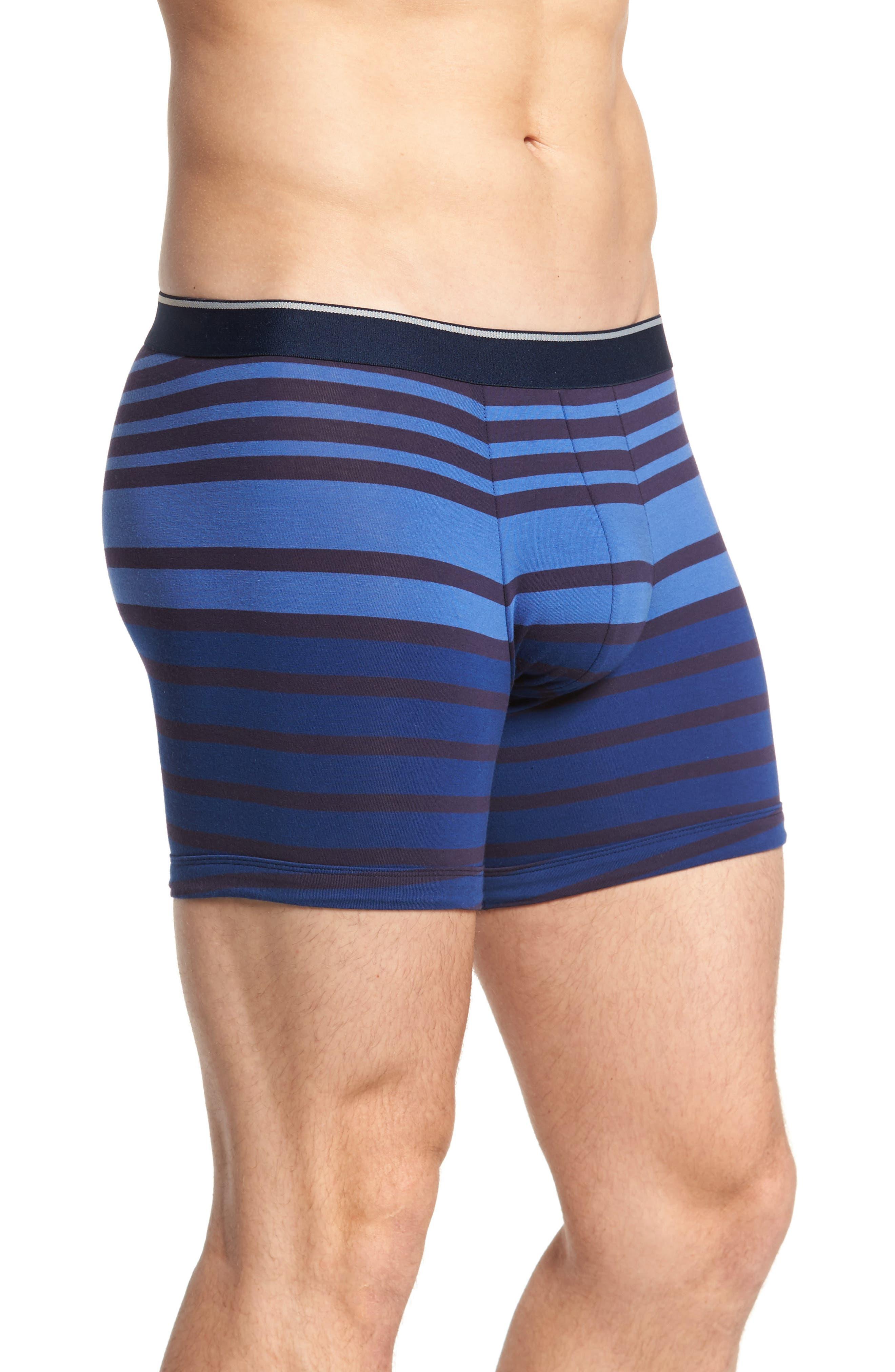 3-Pack Boxer Briefs,                             Alternate thumbnail 3, color,                             Navy/ Navy-Blue Stripe