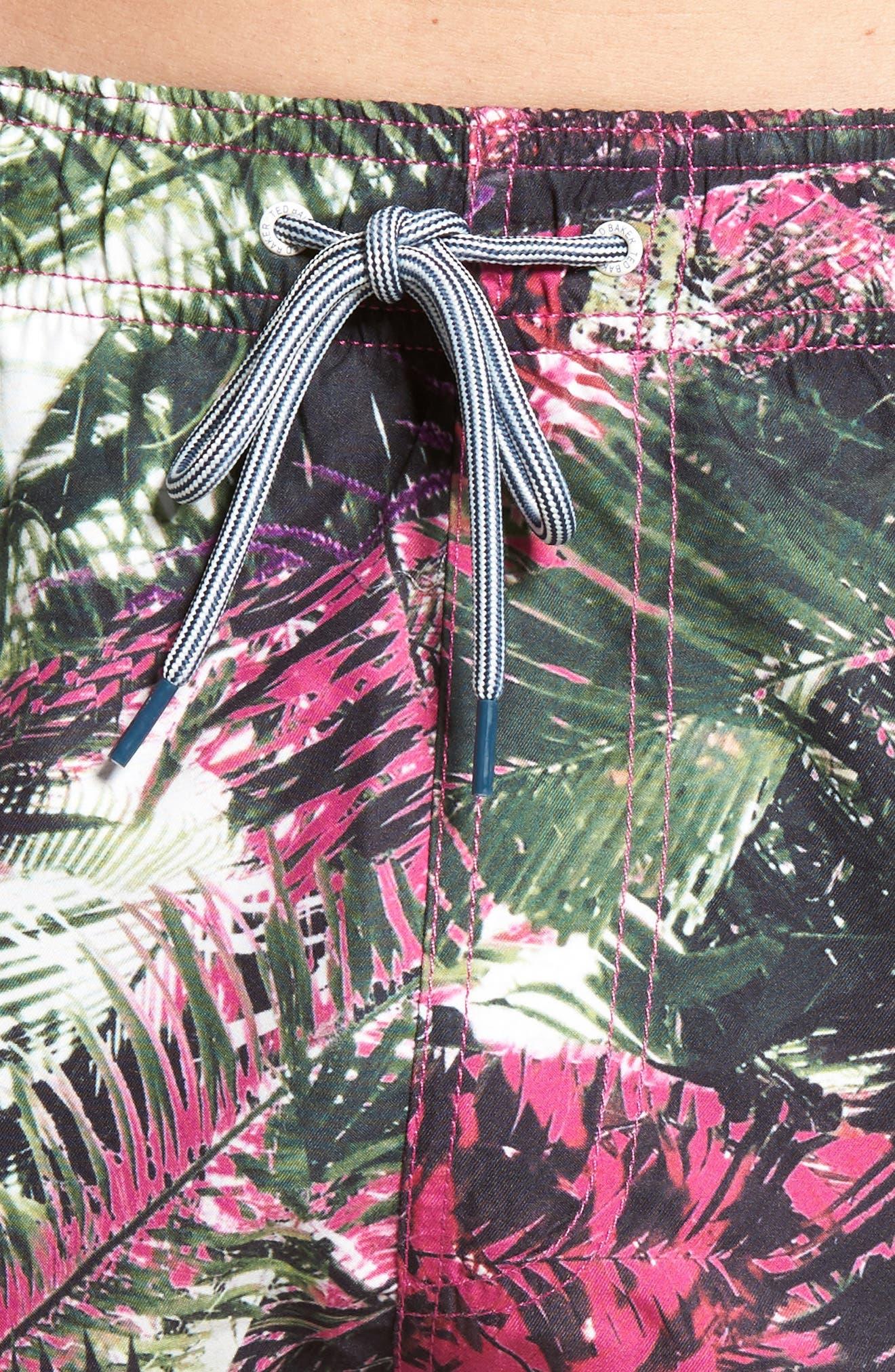 Alternate Image 4  - Ted Baker London Spencer Tropical Leaf Print Swim Trunks