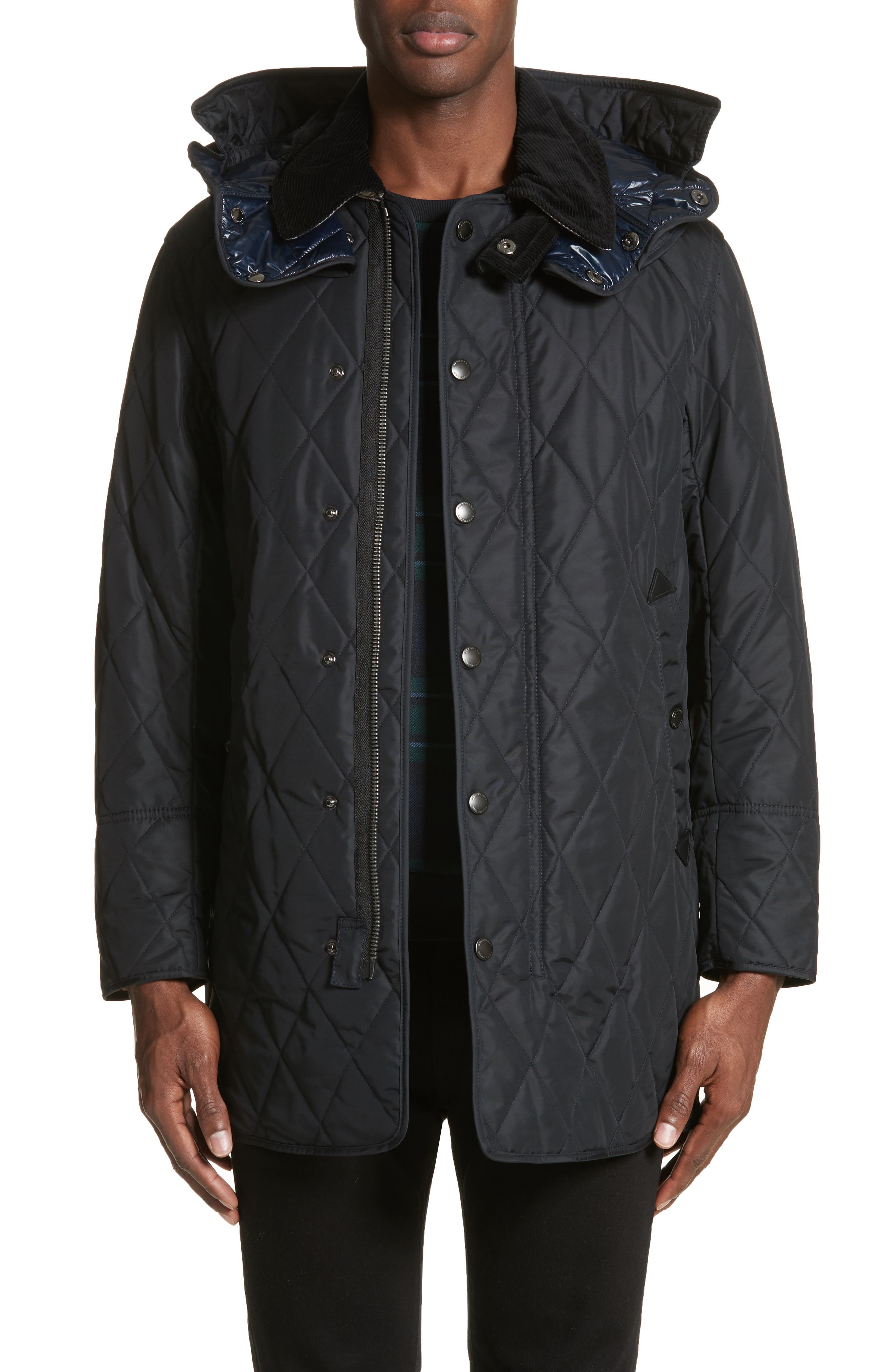 Northumberland Quilted Barn Jacket,                         Main,                         color, Navy