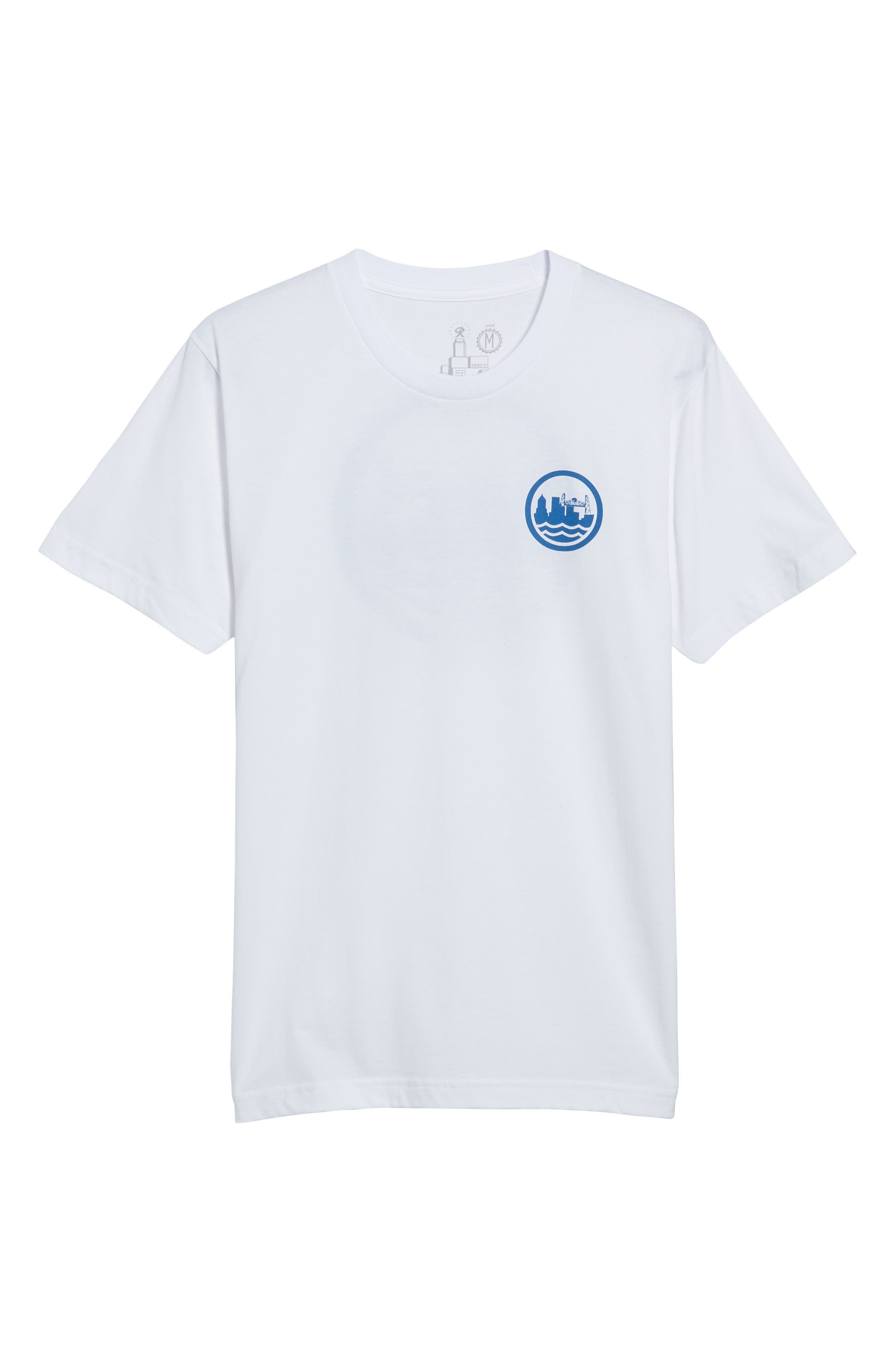 PDX T-Shirt,                             Alternate thumbnail 6, color,                             White