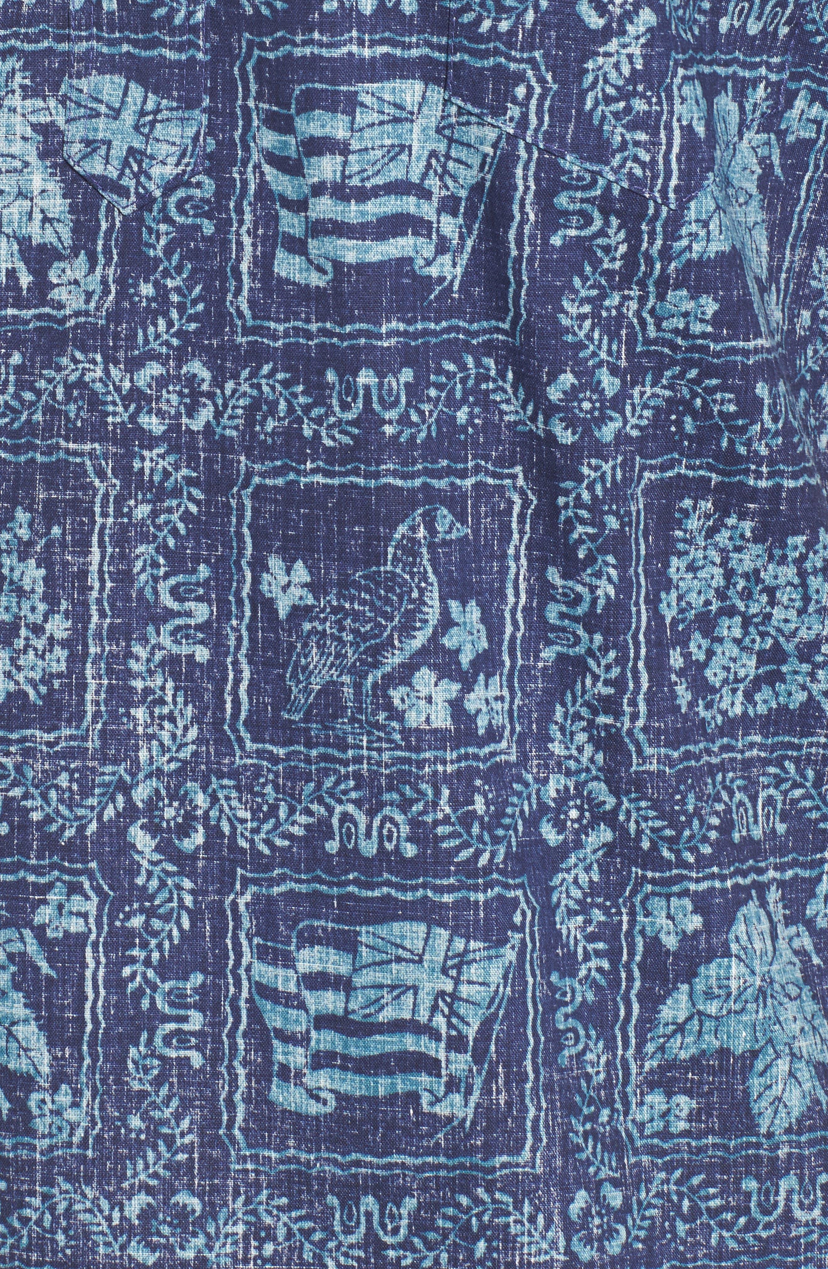 Lahaina Sailor Button Down Polo,                             Alternate thumbnail 5, color,                             Royal