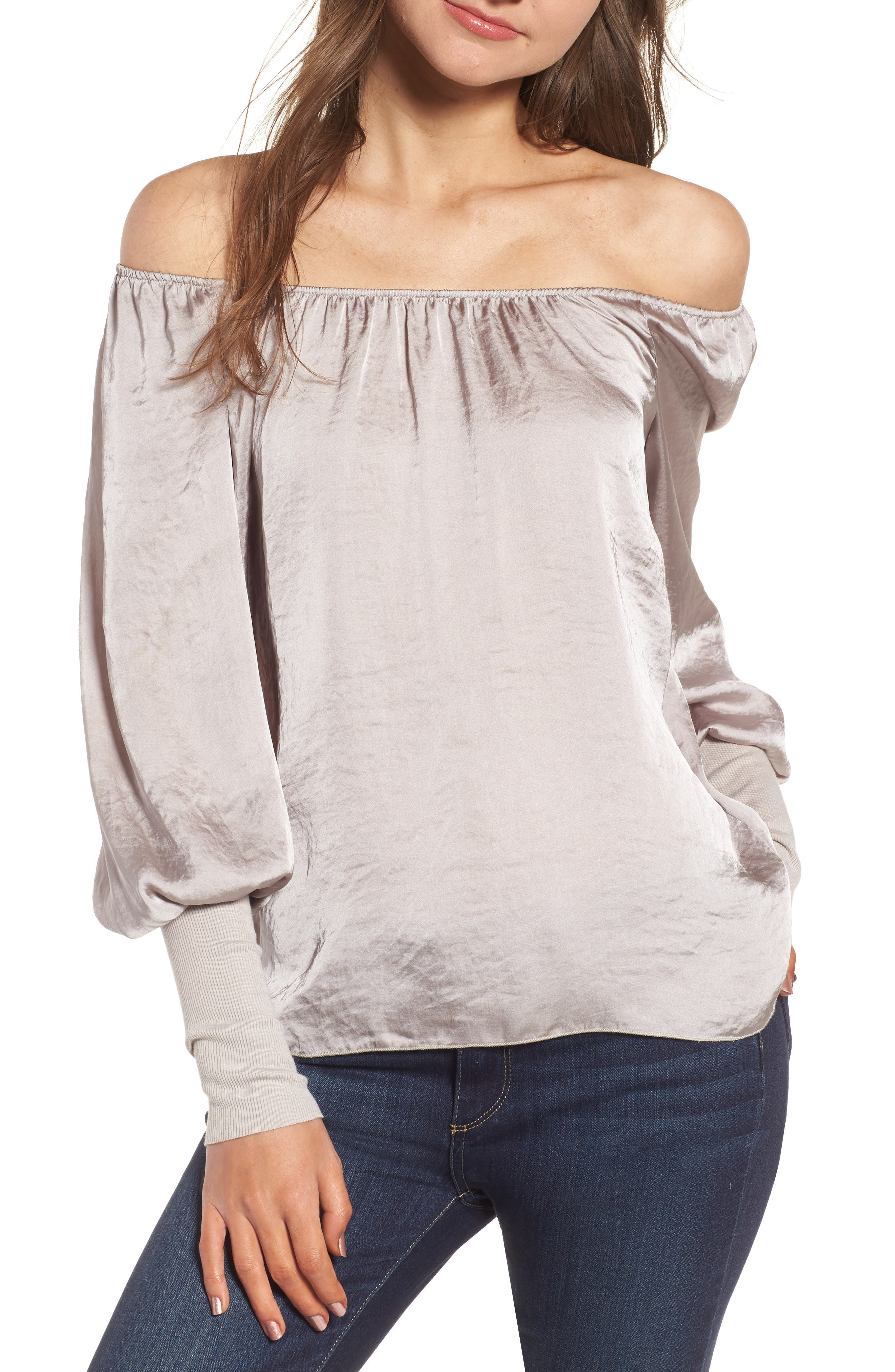 Working Title Satin Top,                             Main thumbnail 1, color,                             Taupe