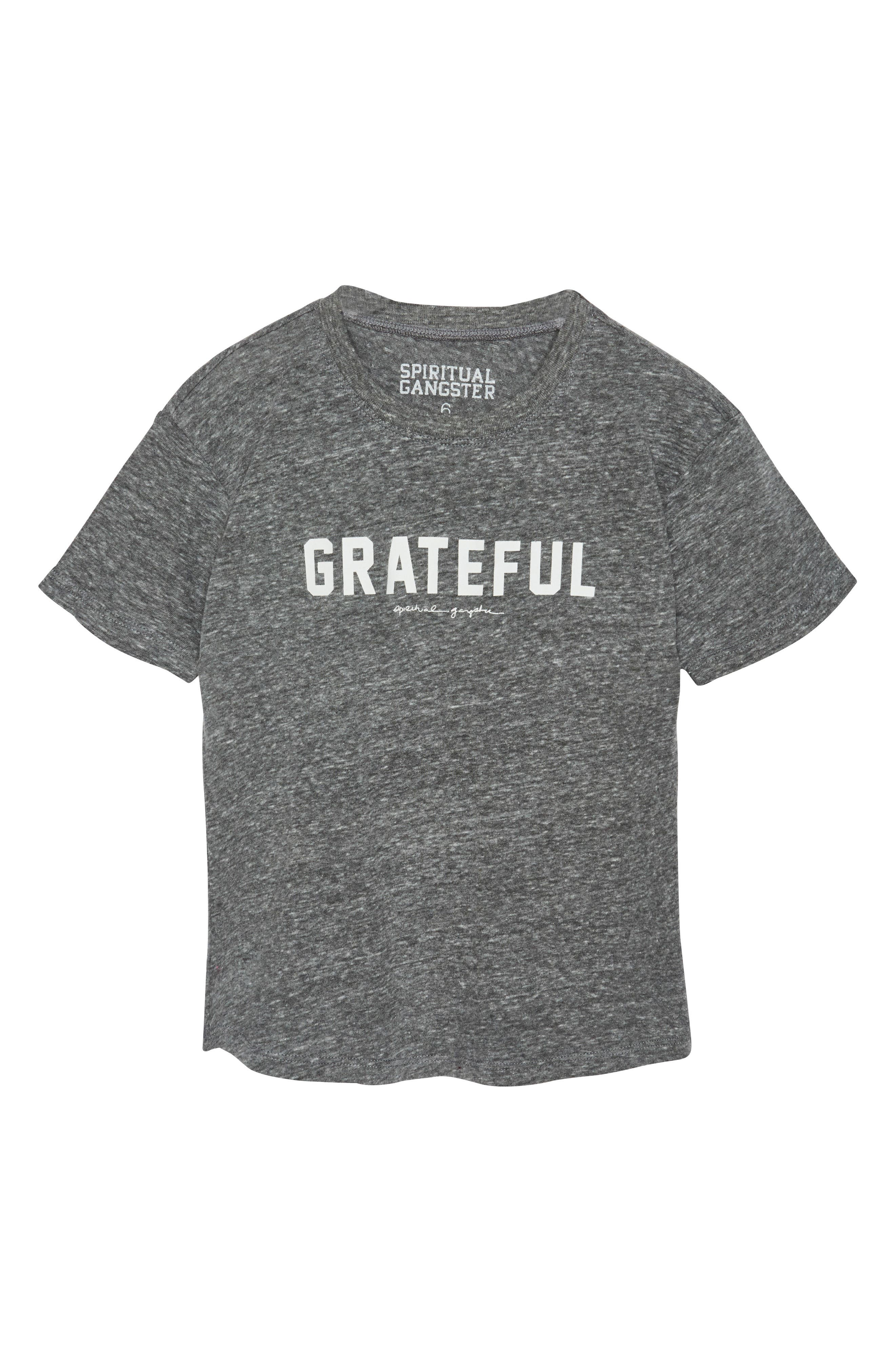 Main Image - Spiritual Gangster Varsity Grateful Graphic T-Shirt (Big Boys)